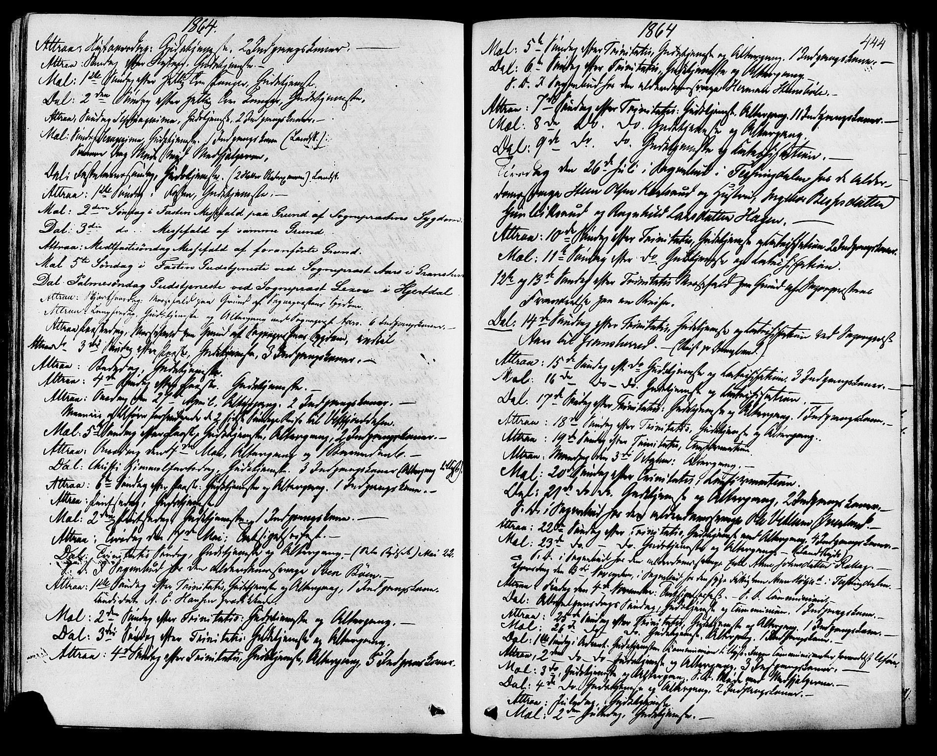 SAKO, Tinn kirkebøker, F/Fa/L0006: Ministerialbok nr. I 6, 1857-1878, s. 444
