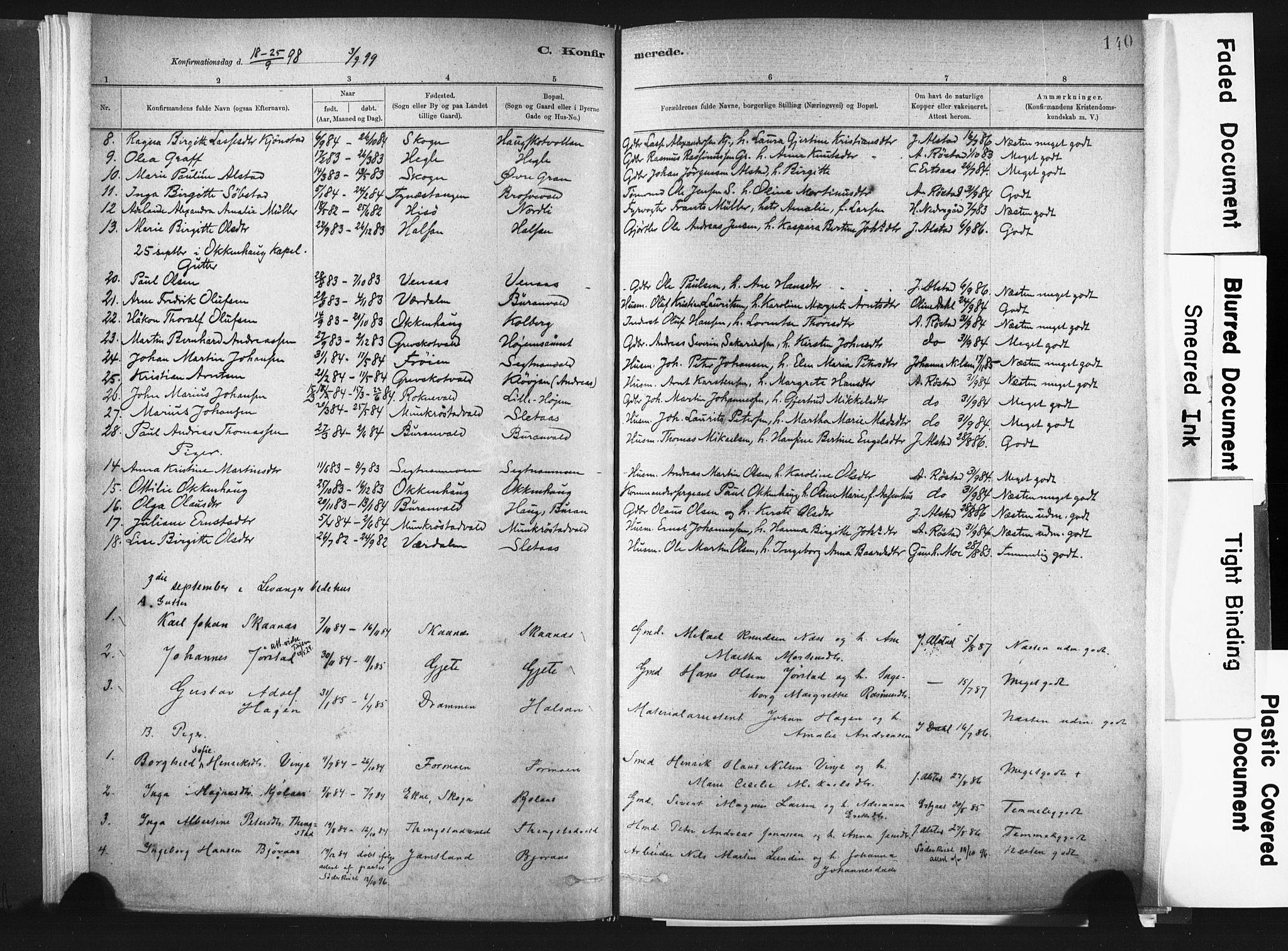 SAT, Ministerialprotokoller, klokkerbøker og fødselsregistre - Nord-Trøndelag, 721/L0207: Ministerialbok nr. 721A02, 1880-1911, s. 140