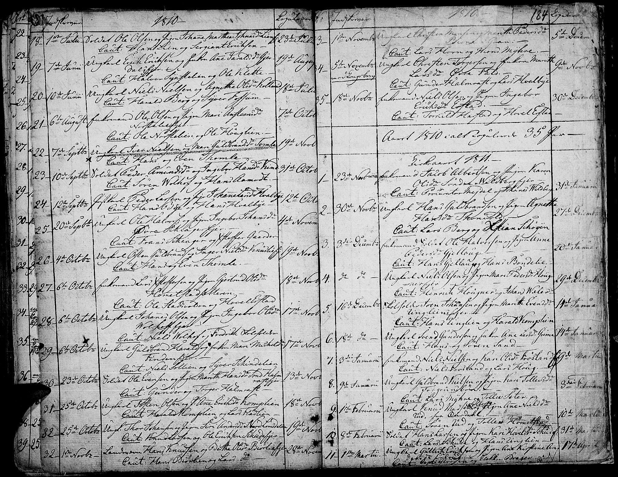 SAH, Land prestekontor, Ministerialbok nr. 6, 1784-1813, s. 184