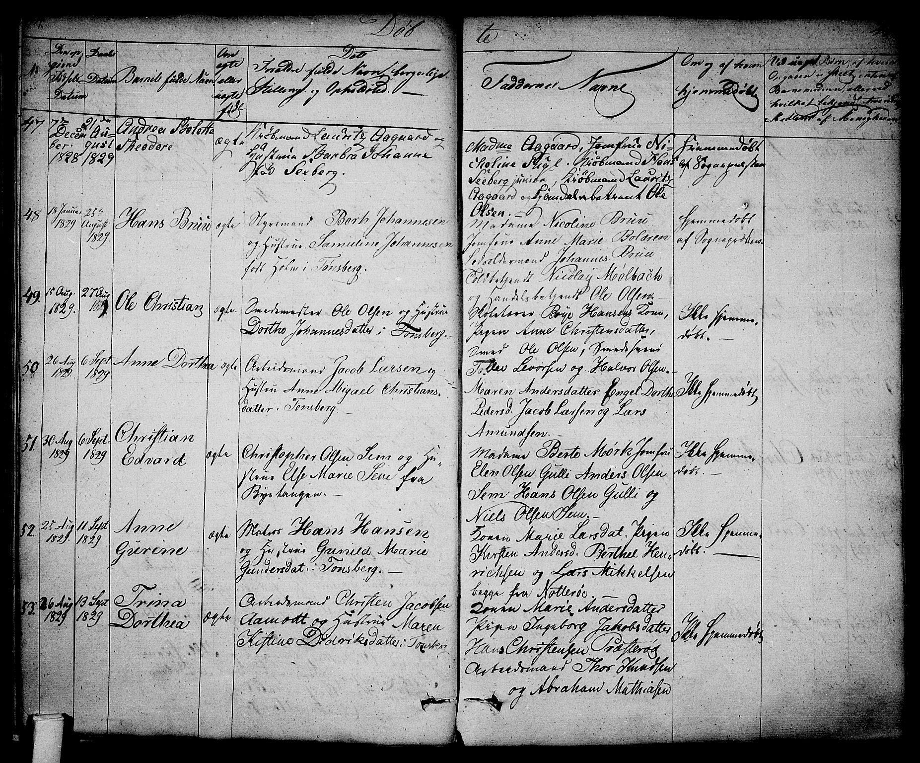 SAKO, Tønsberg kirkebøker, F/Fa/L0005: Ministerialbok nr. I 5, 1827-1836, s. 44-45