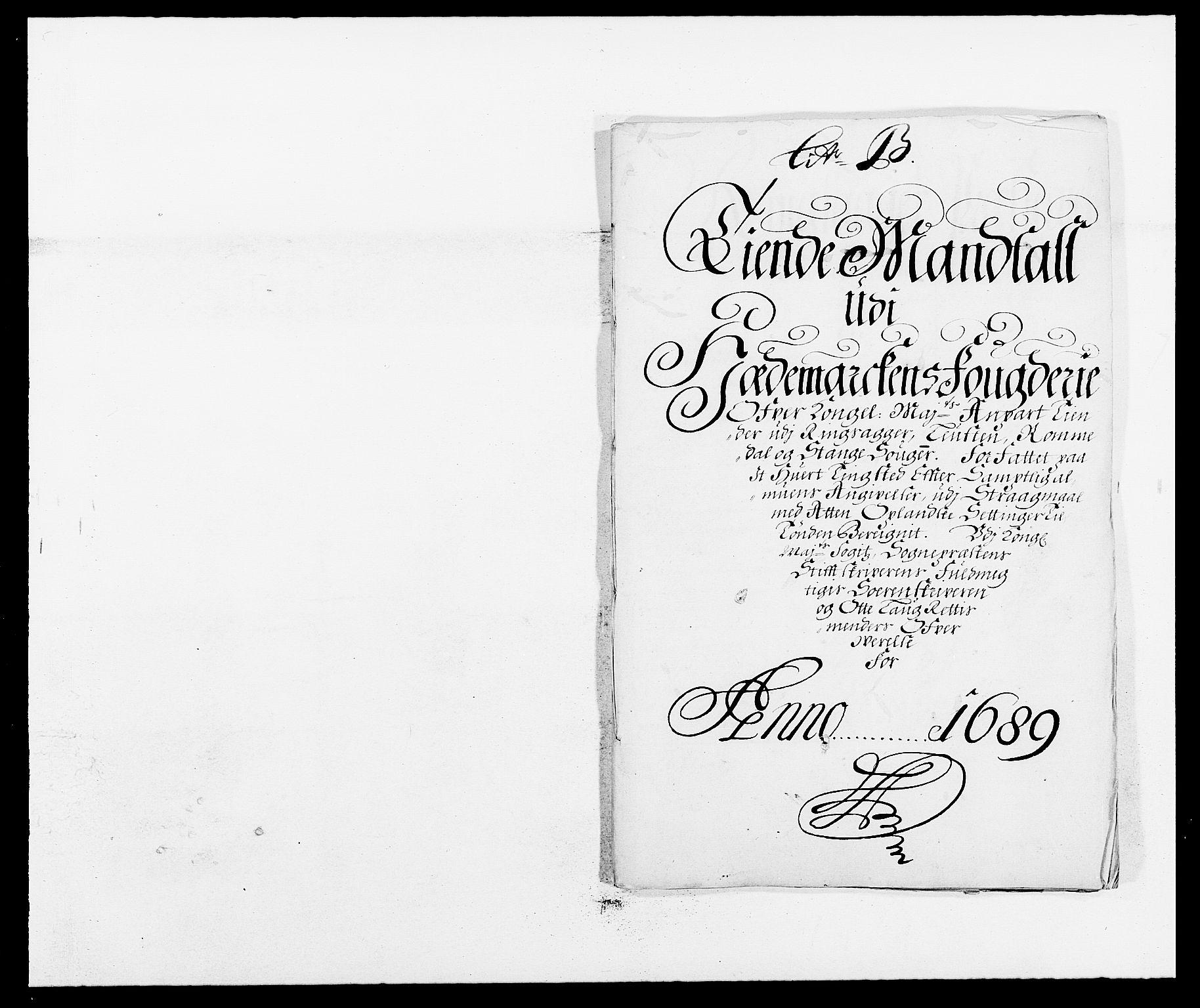 RA, Rentekammeret inntil 1814, Reviderte regnskaper, Fogderegnskap, R16/L1030: Fogderegnskap Hedmark, 1689-1691, s. 64