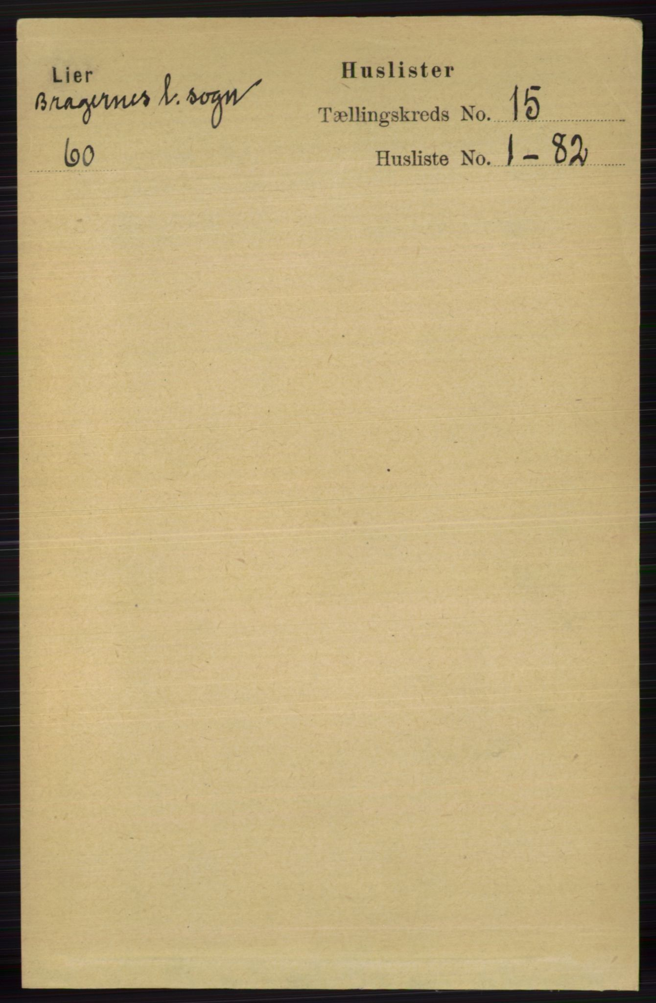 RA, Folketelling 1891 for 0626 Lier herred, 1891, s. 8619