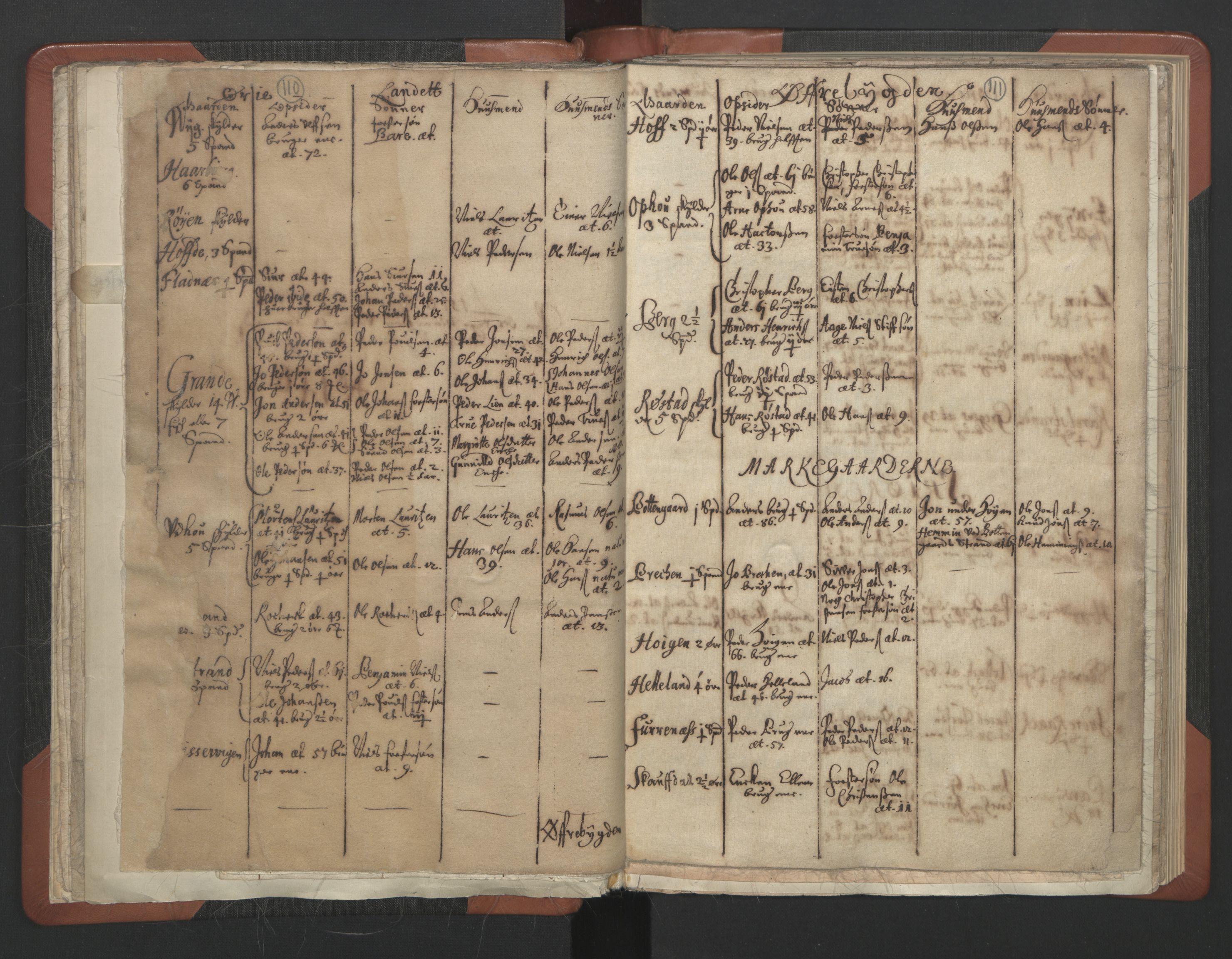 RA, Sogneprestenes manntall 1664-1666, nr. 30: Fosen prosti, 1664-1666, s. 110-111