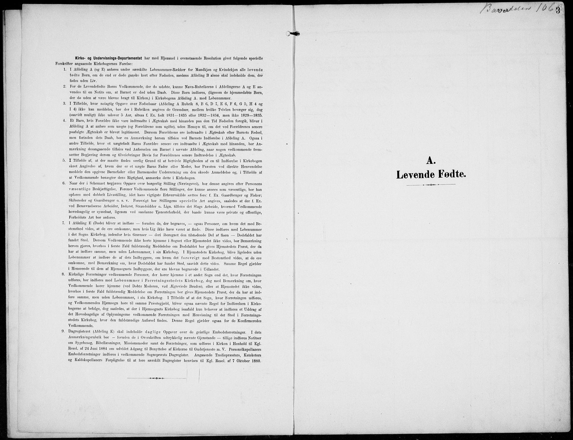 SAH, Lom prestekontor, L/L0007: Klokkerbok nr. 7, 1904-1938, s. 3