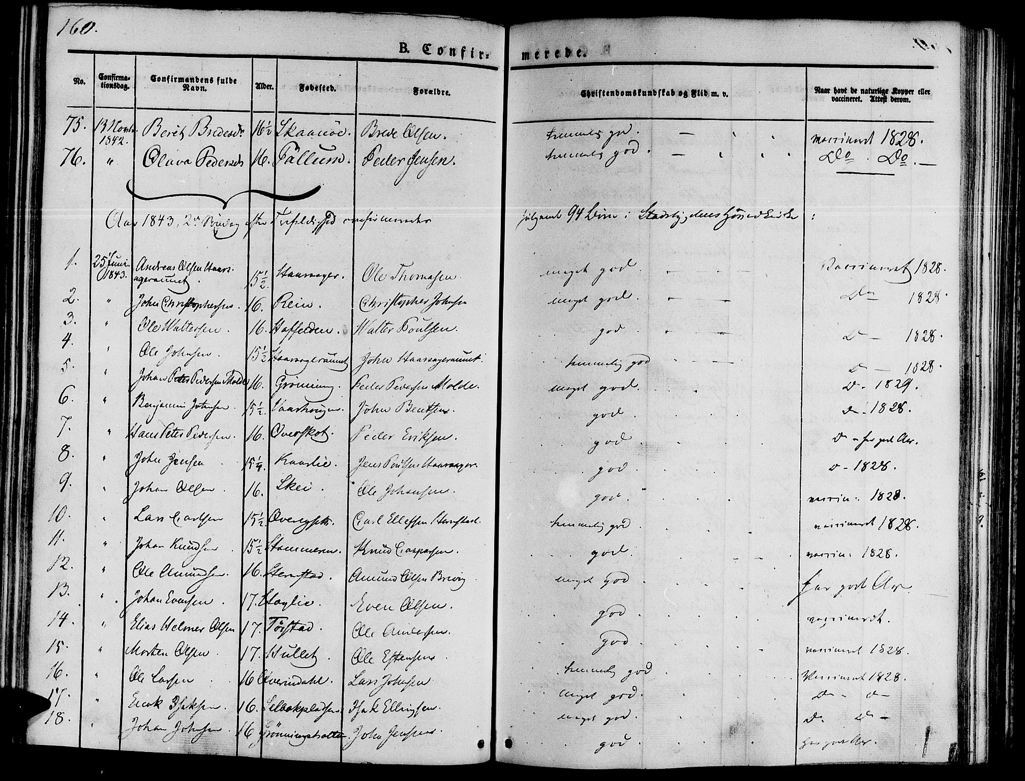 SAT, Ministerialprotokoller, klokkerbøker og fødselsregistre - Sør-Trøndelag, 646/L0610: Ministerialbok nr. 646A08, 1837-1847, s. 160