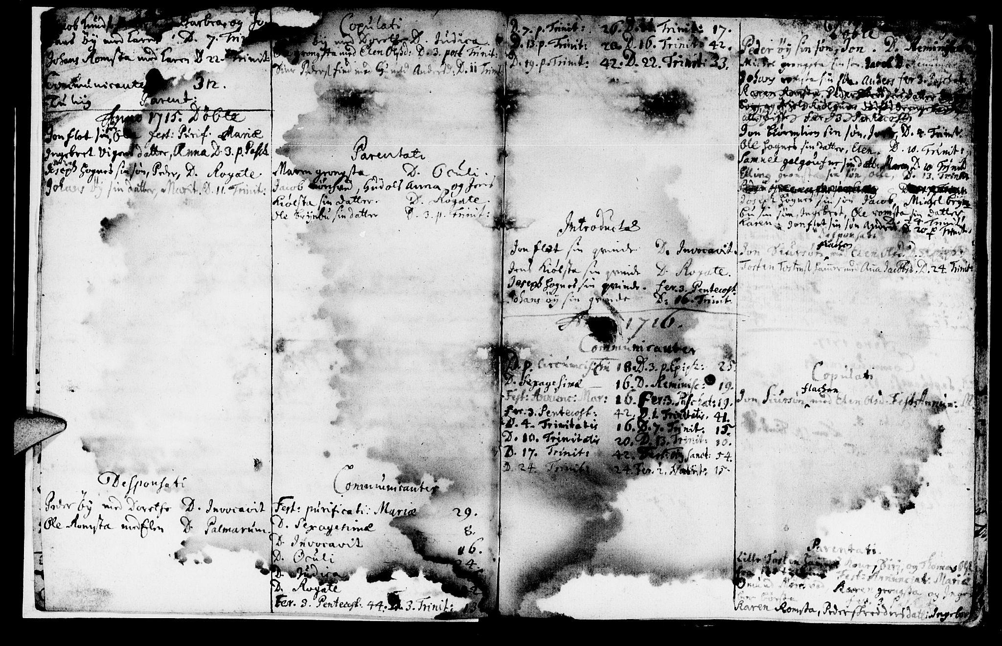 SAT, Ministerialprotokoller, klokkerbøker og fødselsregistre - Nord-Trøndelag, 765/L0560: Ministerialbok nr. 765A01, 1706-1748, s. 3
