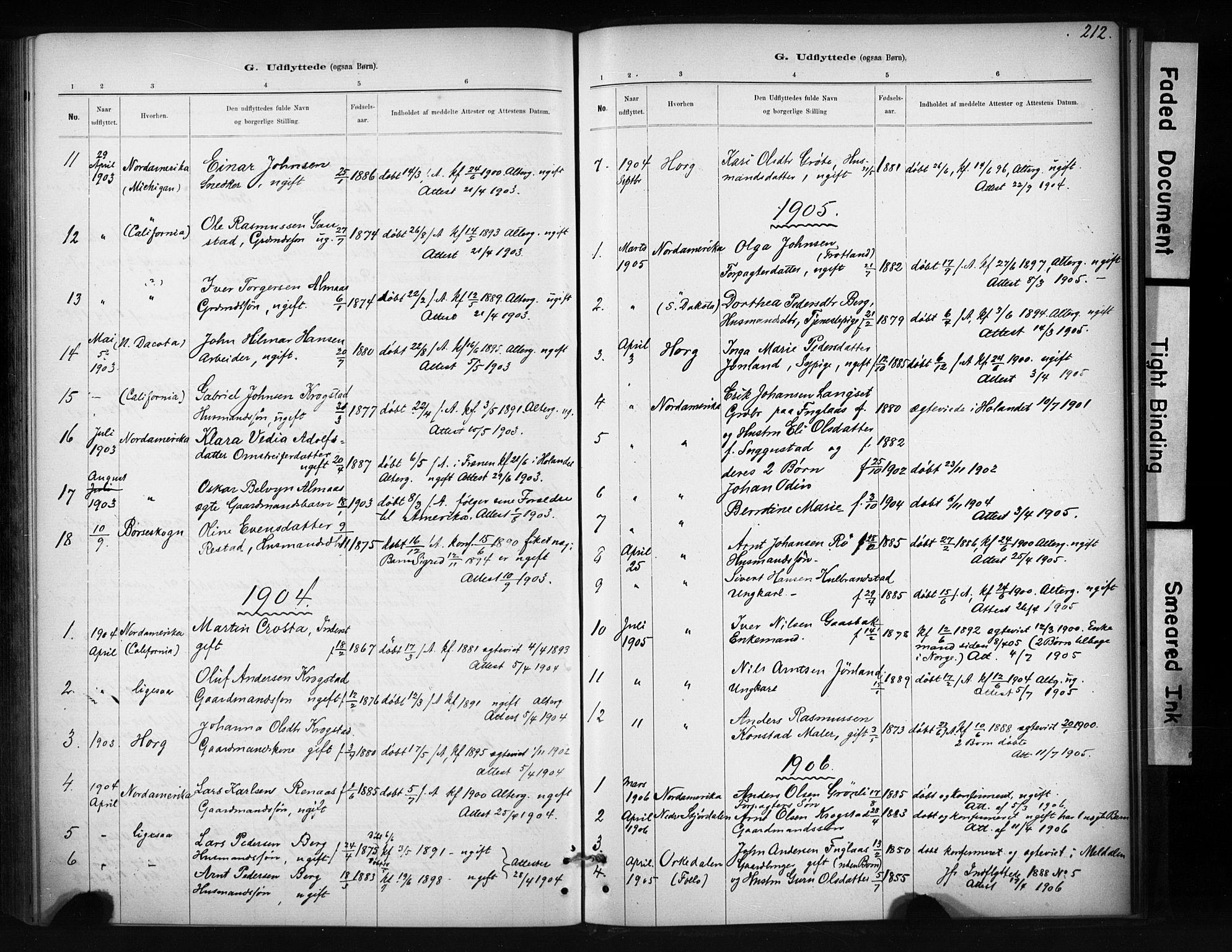 SAT, Ministerialprotokoller, klokkerbøker og fødselsregistre - Sør-Trøndelag, 694/L1127: Ministerialbok nr. 694A01, 1887-1905, s. 212