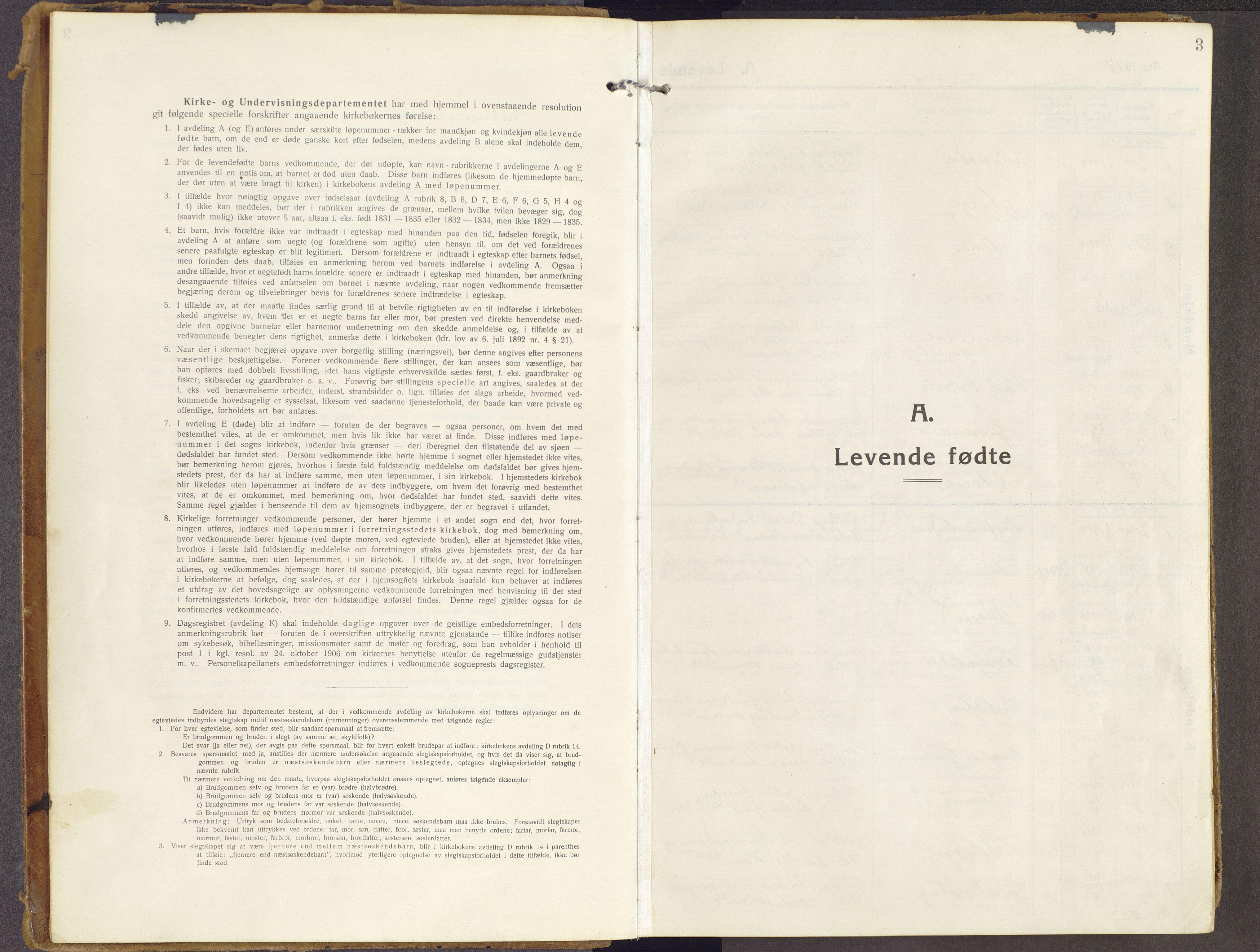 SAH, Brandbu prestekontor, Ministerialbok nr. 3, 1914-1928, s. 3