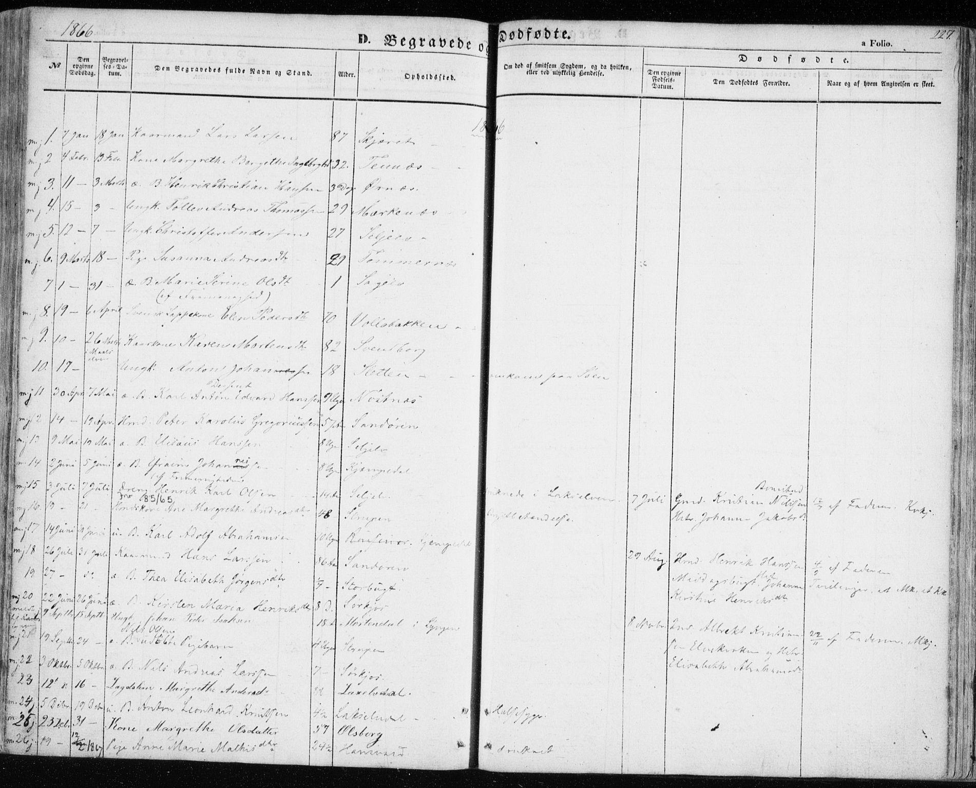 SATØ, Balsfjord sokneprestembete, Ministerialbok nr. 3, 1856-1870, s. 227