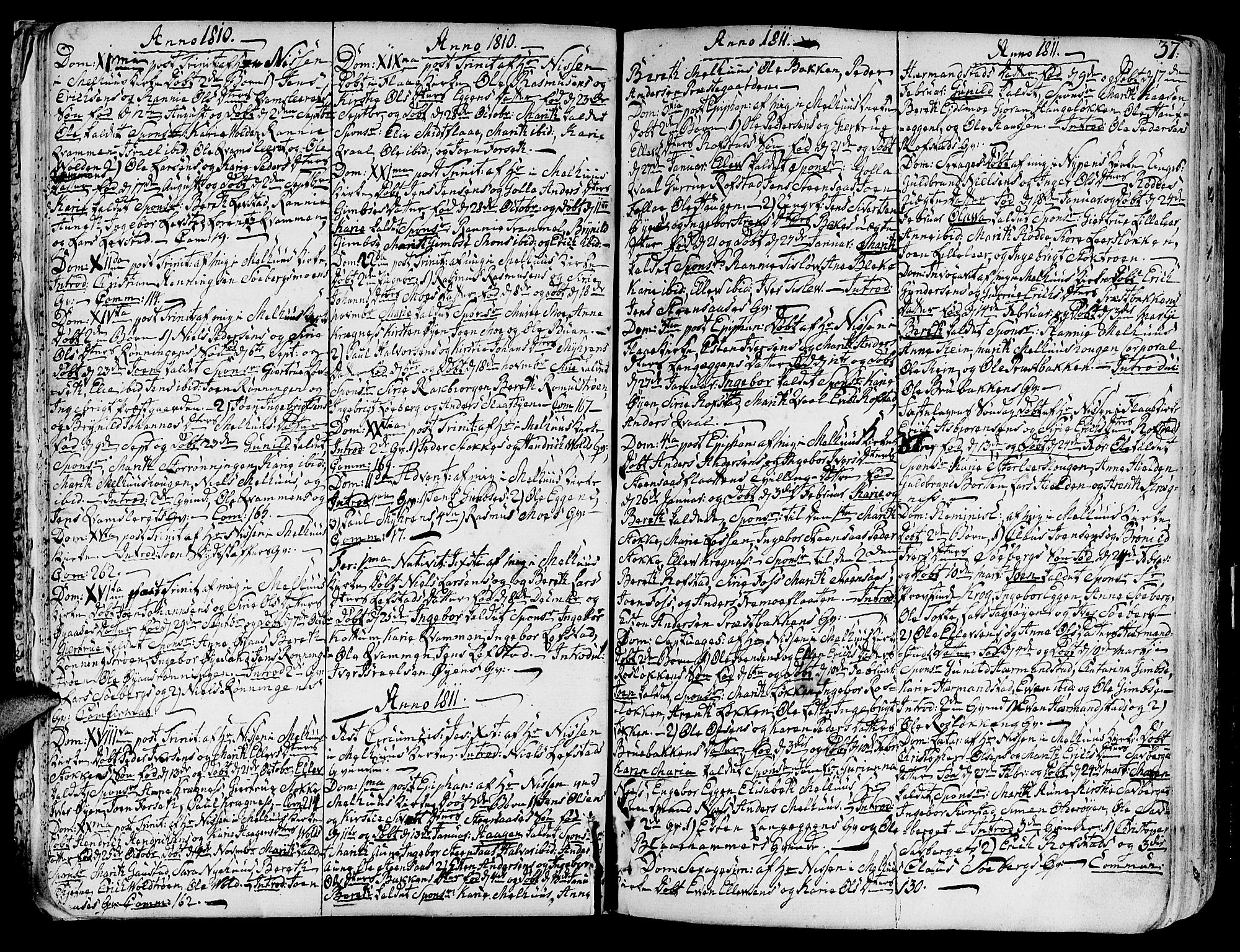 SAT, Ministerialprotokoller, klokkerbøker og fødselsregistre - Sør-Trøndelag, 691/L1061: Ministerialbok nr. 691A02 /1, 1768-1815, s. 37