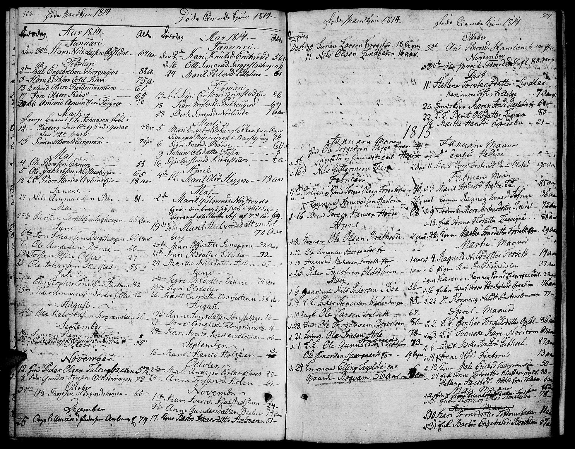 SAH, Gausdal prestekontor, Ministerialbok nr. 4, 1809-1817, s. 506-507