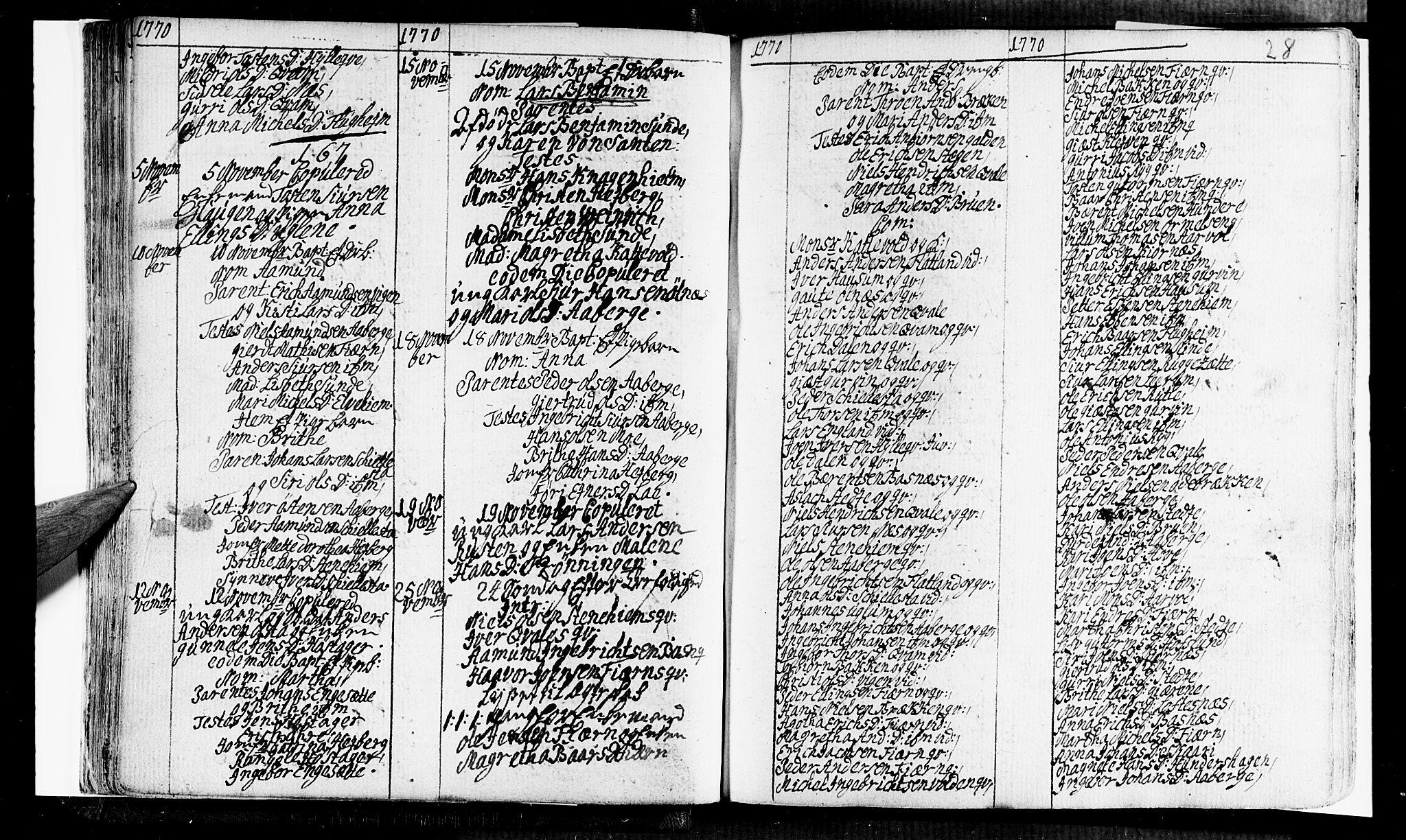 SAB, Sogndal Sokneprestembete, Ministerialbok nr. A 5, 1768-1782, s. 28