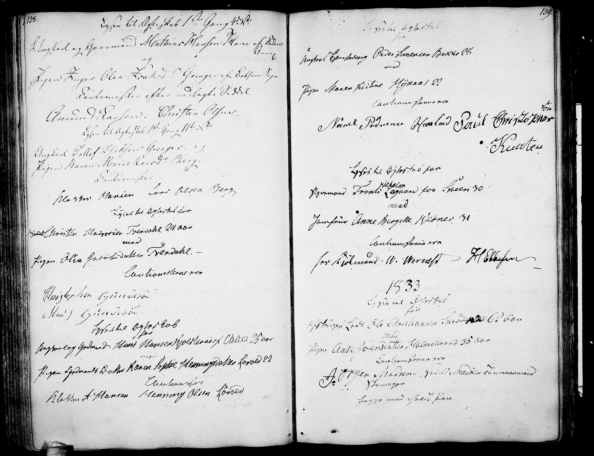 SAKO, Botne kirkebøker, F/Fa/L0003: Ministerialbok nr. I 3 /1, 1792-1844, s. 138-139