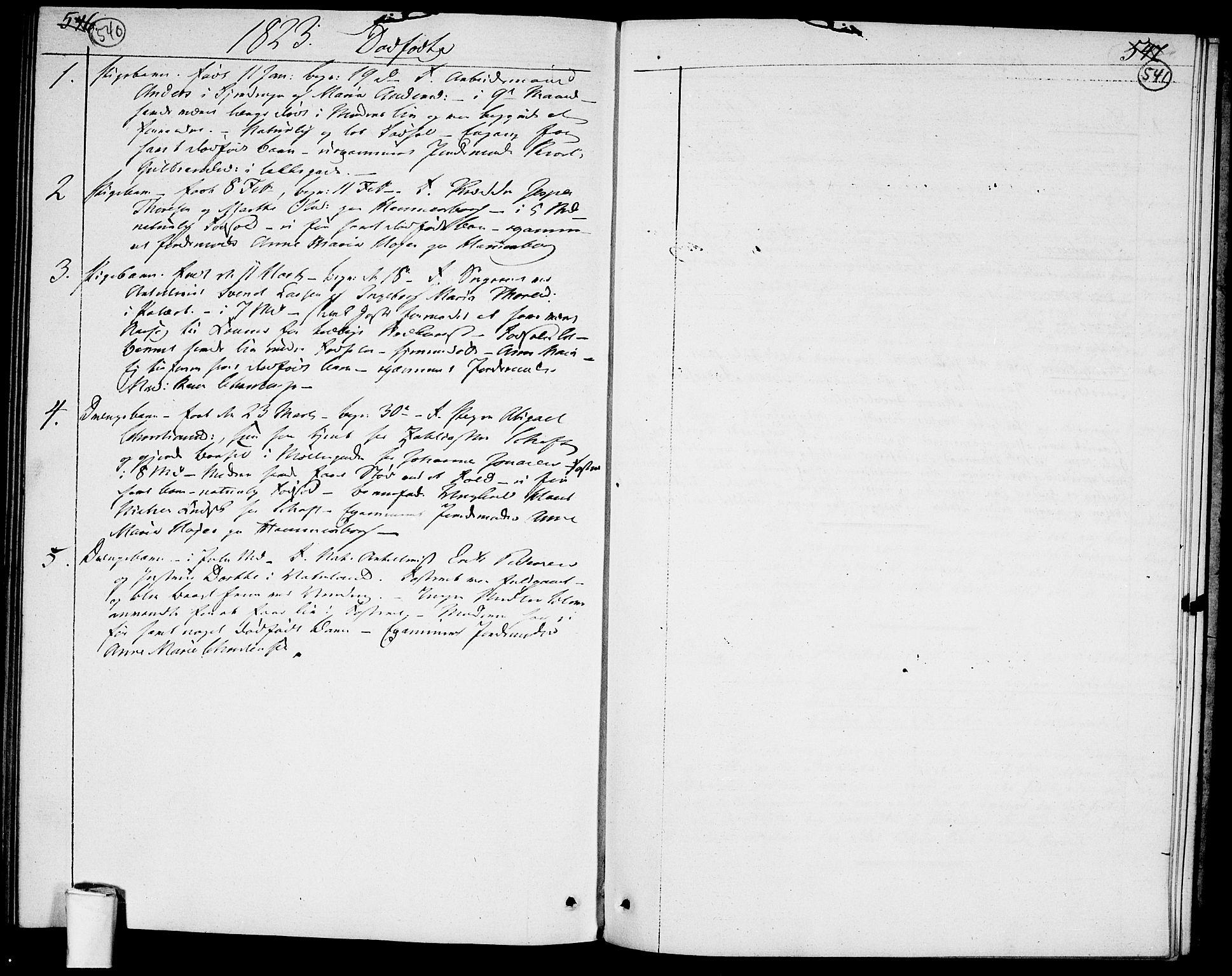 SAO, Garnisonsmenigheten Kirkebøker, F/Fa/L0004: Ministerialbok nr. 4, 1820-1828, s. 540-541