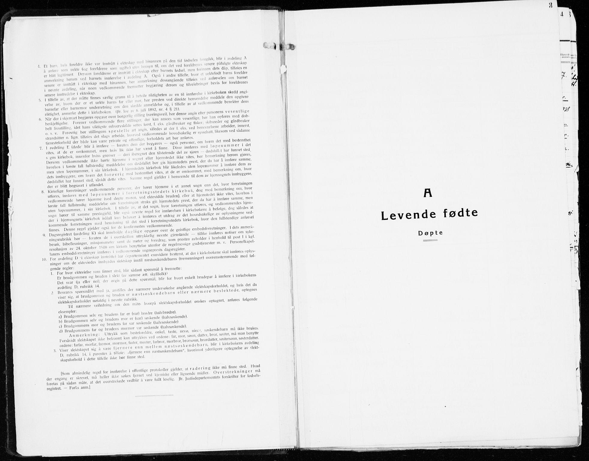 SAH, Stange prestekontor, K/L0027: Ministerialbok nr. 27, 1937-1947, s. 3