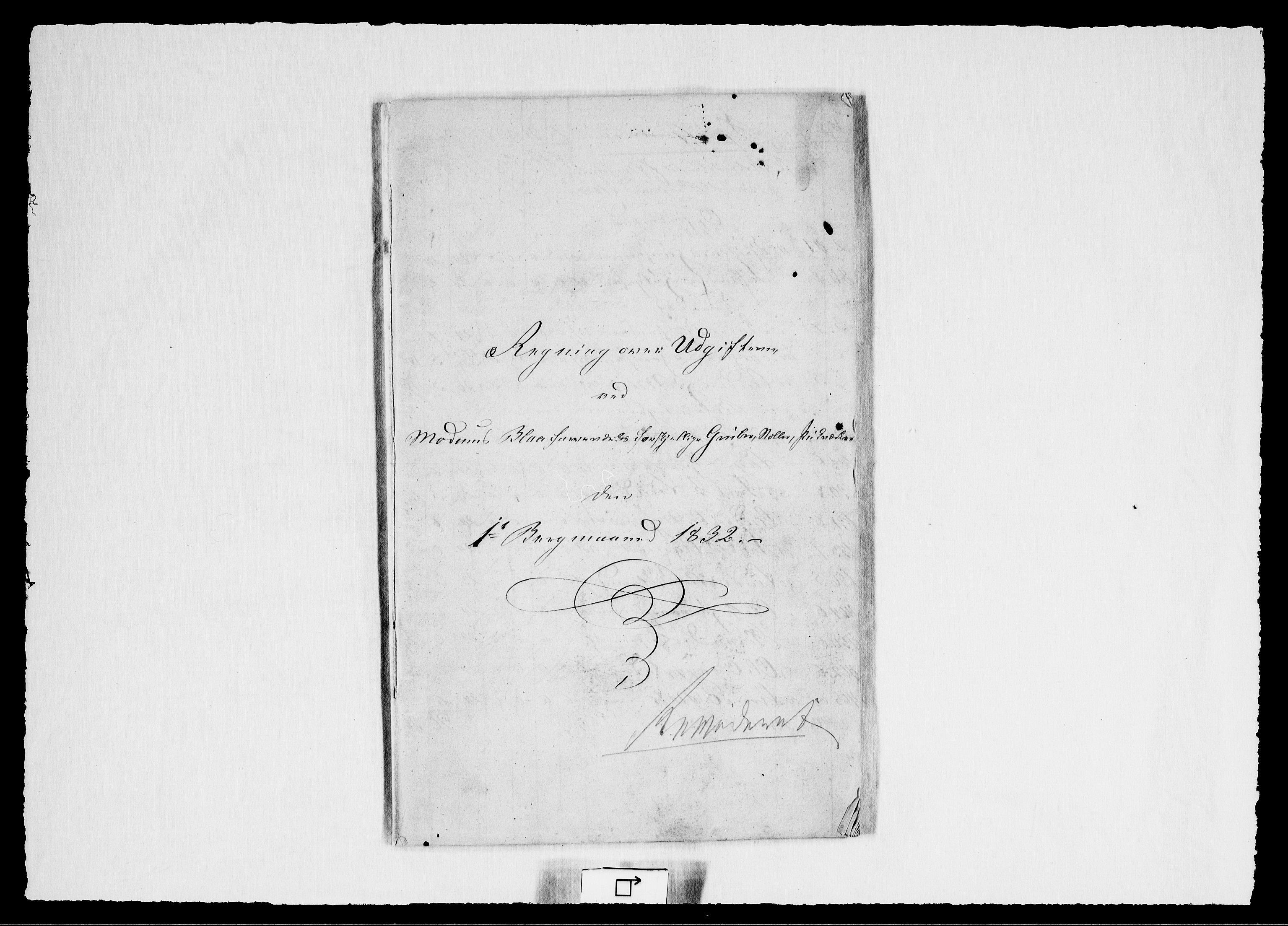 RA, Modums Blaafarveværk, G/Gd/Gdd/L0259, 1832, s. 2