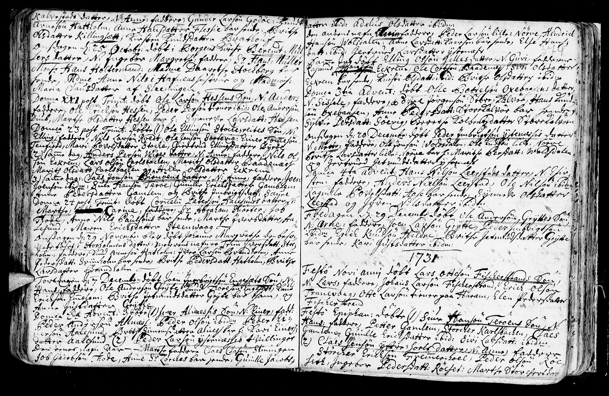 SAT, Ministerialprotokoller, klokkerbøker og fødselsregistre - Møre og Romsdal, 528/L0390: Ministerialbok nr. 528A01, 1698-1739, s. 378-379