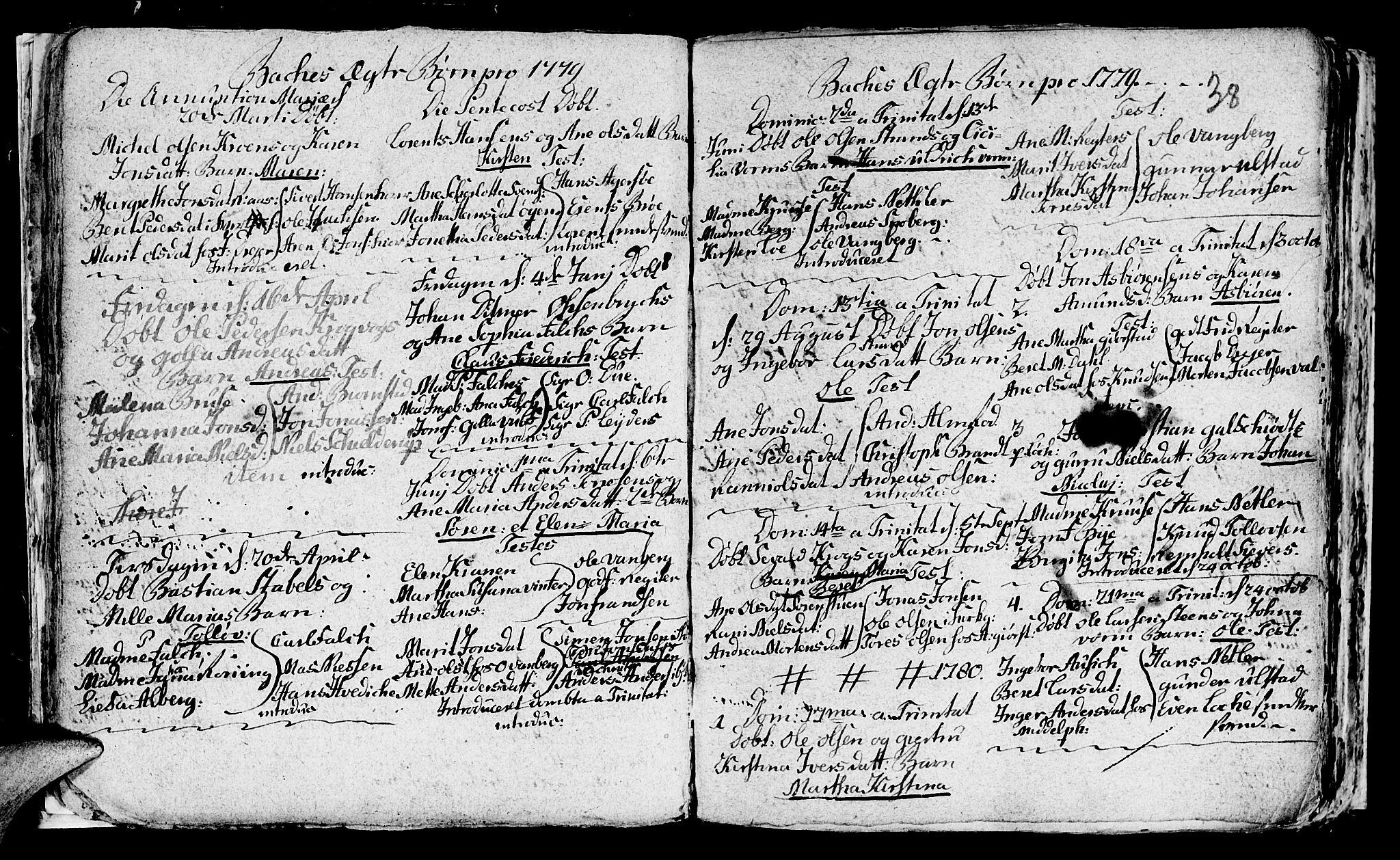 SAT, Ministerialprotokoller, klokkerbøker og fødselsregistre - Sør-Trøndelag, 604/L0218: Klokkerbok nr. 604C01, 1754-1819, s. 38