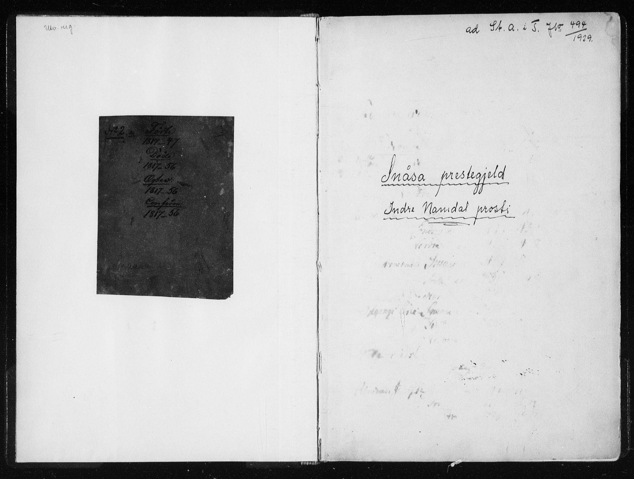 SAT, Ministerialprotokoller, klokkerbøker og fødselsregistre - Nord-Trøndelag, 749/L0469: Ministerialbok nr. 749A03, 1817-1857