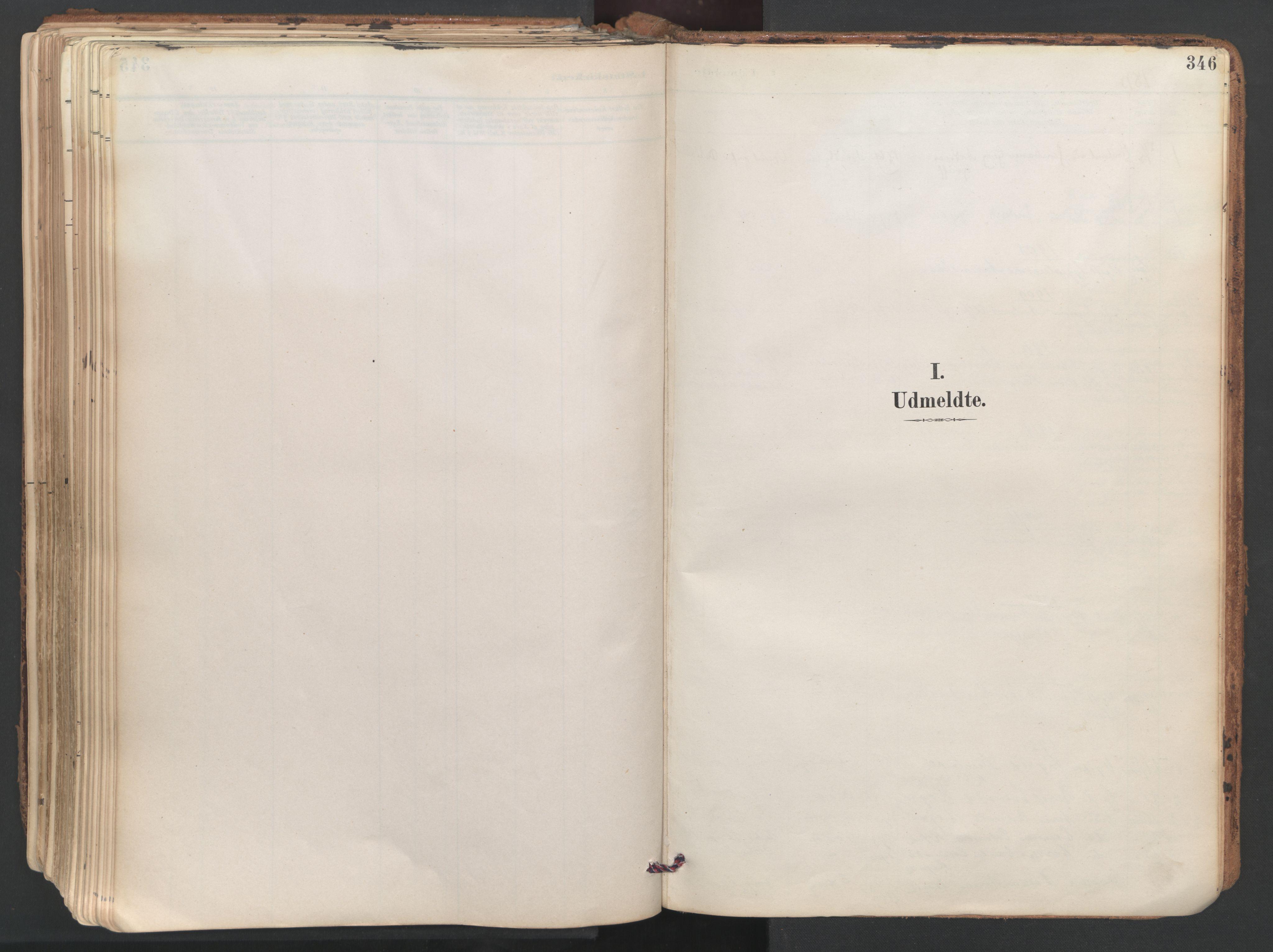 SAT, Ministerialprotokoller, klokkerbøker og fødselsregistre - Sør-Trøndelag, 687/L1004: Ministerialbok nr. 687A10, 1891-1923, s. 346