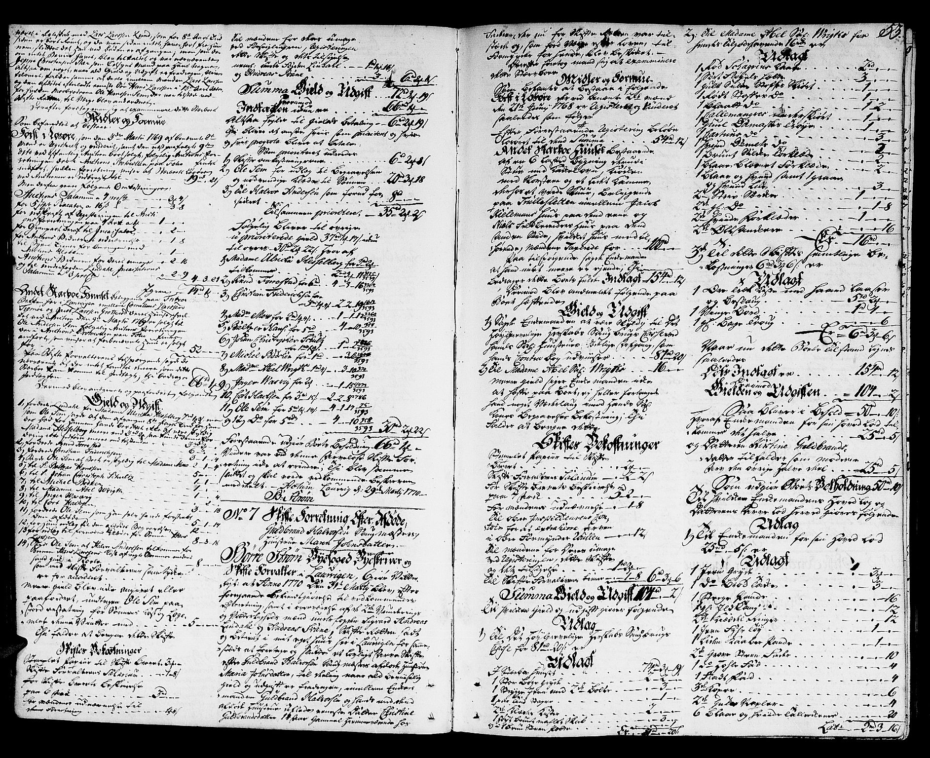 SAKO, Larvik byfogd, H/Hb/Hba/L0010: Skifteprotokoll., 1765-1792, s. 52b-53a
