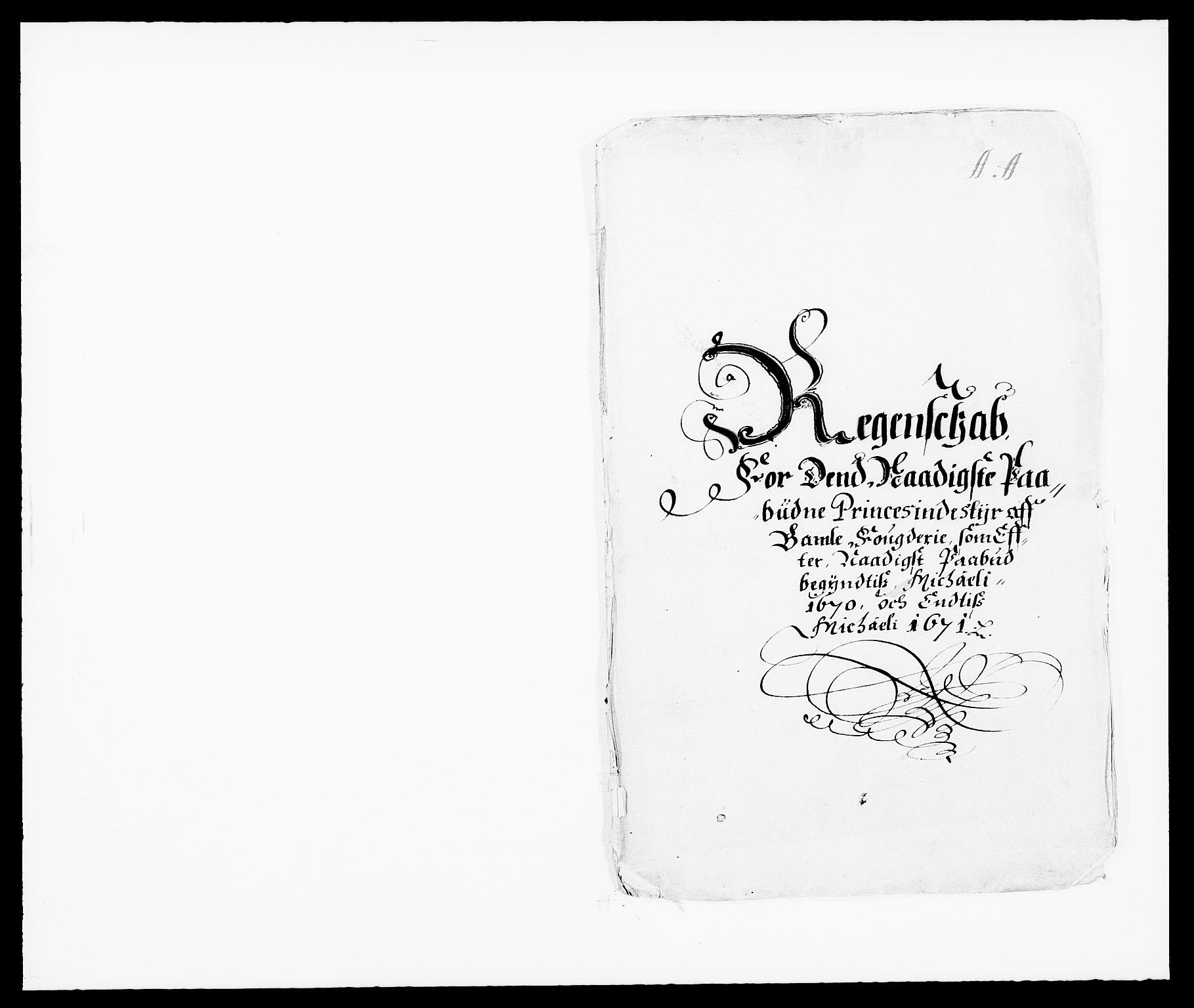 RA, Rentekammeret inntil 1814, Reviderte regnskaper, Fogderegnskap, R34/L2041: Fogderegnskap Bamble, 1670-1672, s. 234
