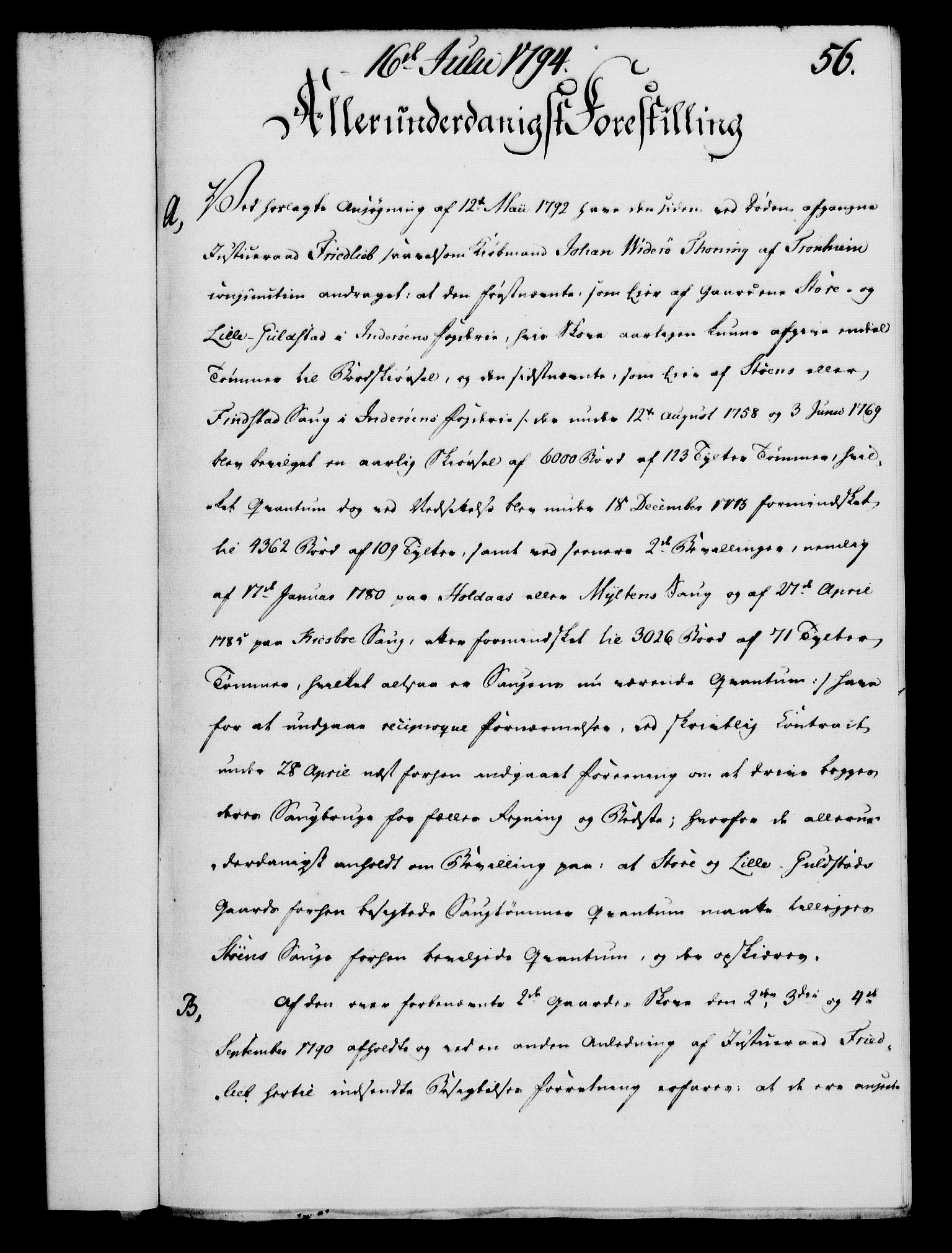 RA, Rentekammeret, Kammerkanselliet, G/Gf/Gfa/L0076: Norsk relasjons- og resolusjonsprotokoll (merket RK 52.76), 1794, s. 264