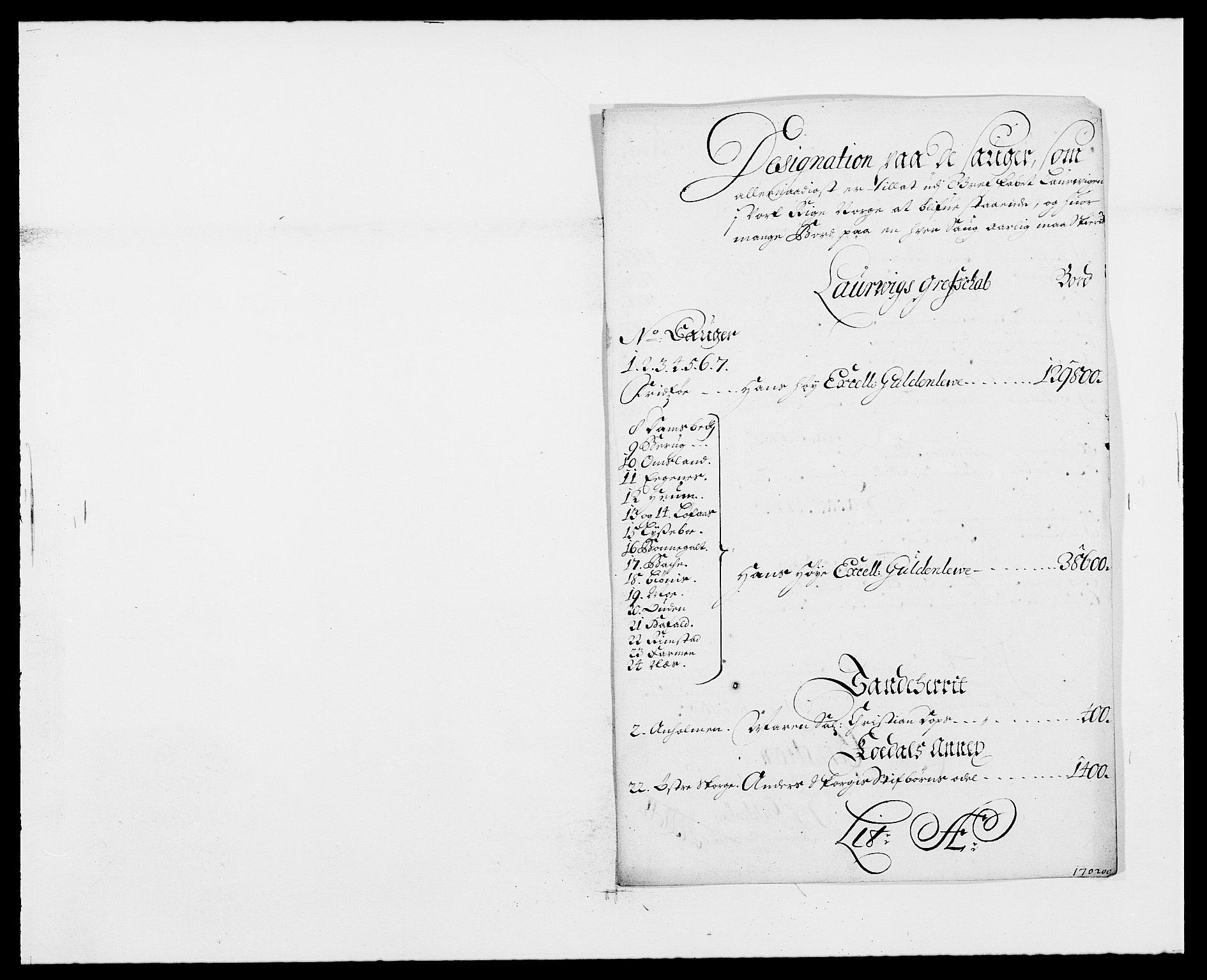 RA, Rentekammeret inntil 1814, Reviderte regnskaper, Fogderegnskap, R33/L1972: Fogderegnskap Larvik grevskap, 1690-1691, s. 348