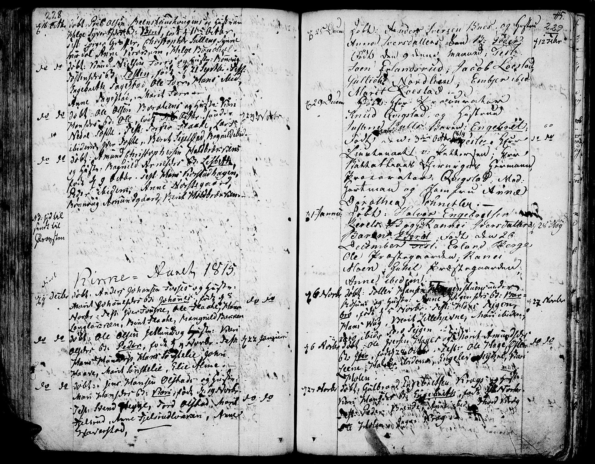 SAH, Fron prestekontor, H/Ha/Haa/L0001: Ministerialbok nr. 1, 1799-1816, s. 228-229