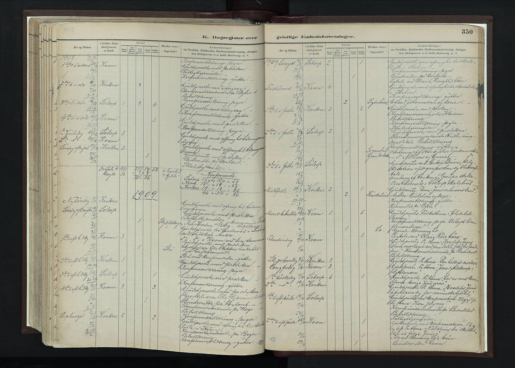 SAH, Nord-Fron prestekontor, Ministerialbok nr. 4, 1884-1914, s. 350