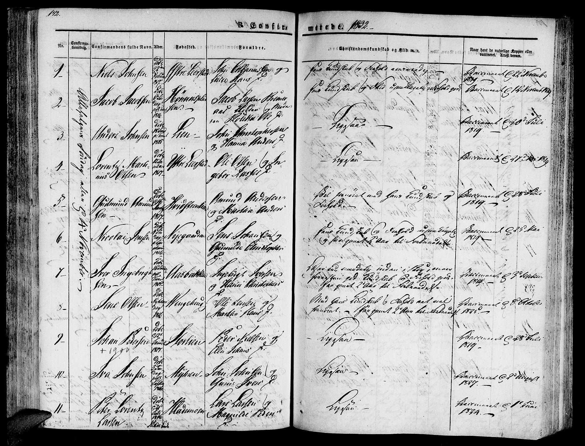 SAT, Ministerialprotokoller, klokkerbøker og fødselsregistre - Nord-Trøndelag, 701/L0006: Ministerialbok nr. 701A06, 1825-1841, s. 172