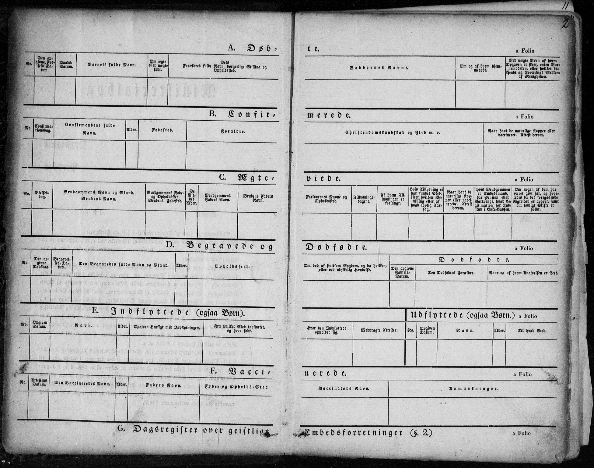 SAKO, Holla kirkebøker, F/Fa/L0005: Ministerialbok nr. 5, 1849-1860, s. 2