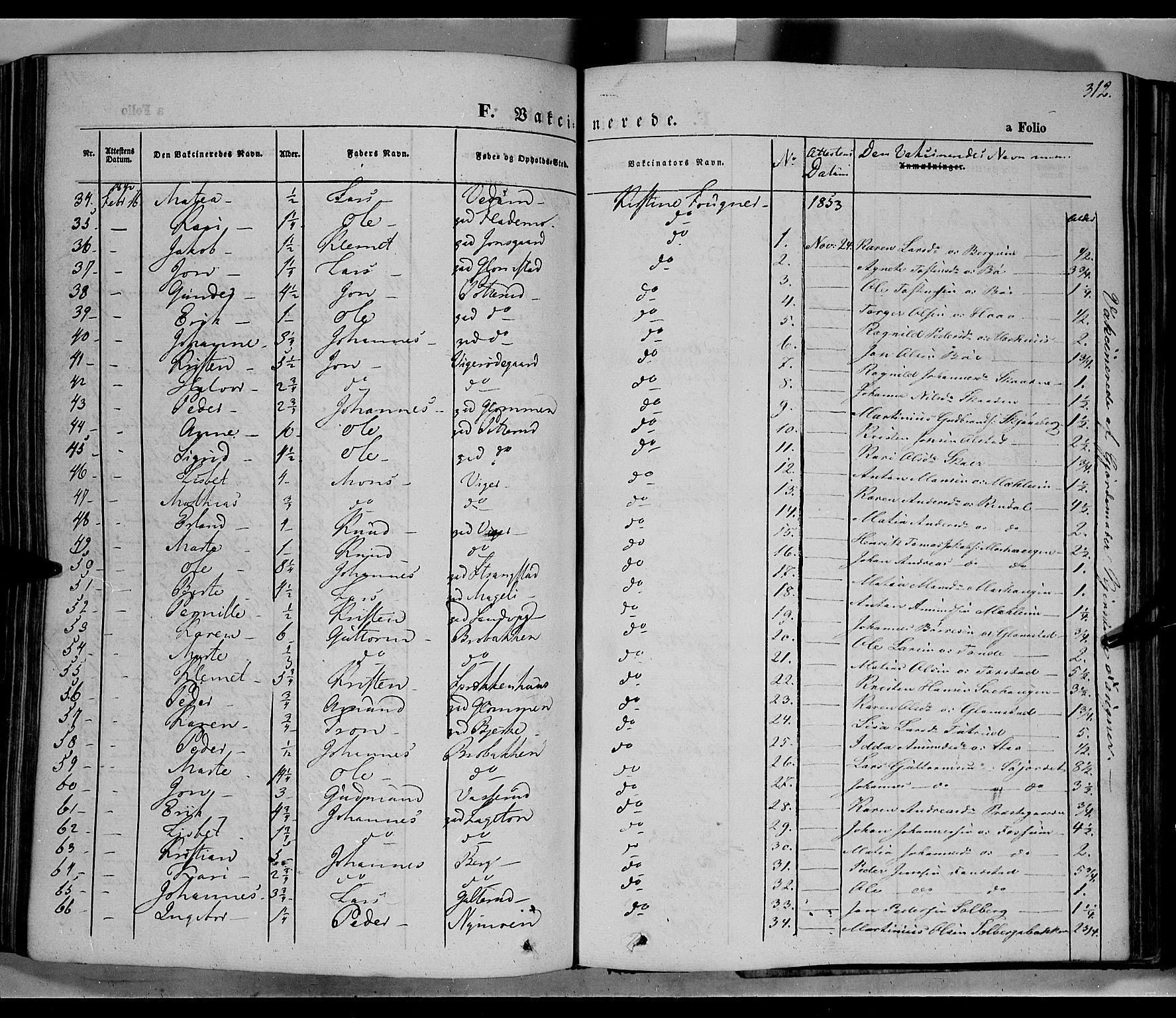 SAH, Øyer prestekontor, Ministerialbok nr. 5, 1842-1857, s. 312