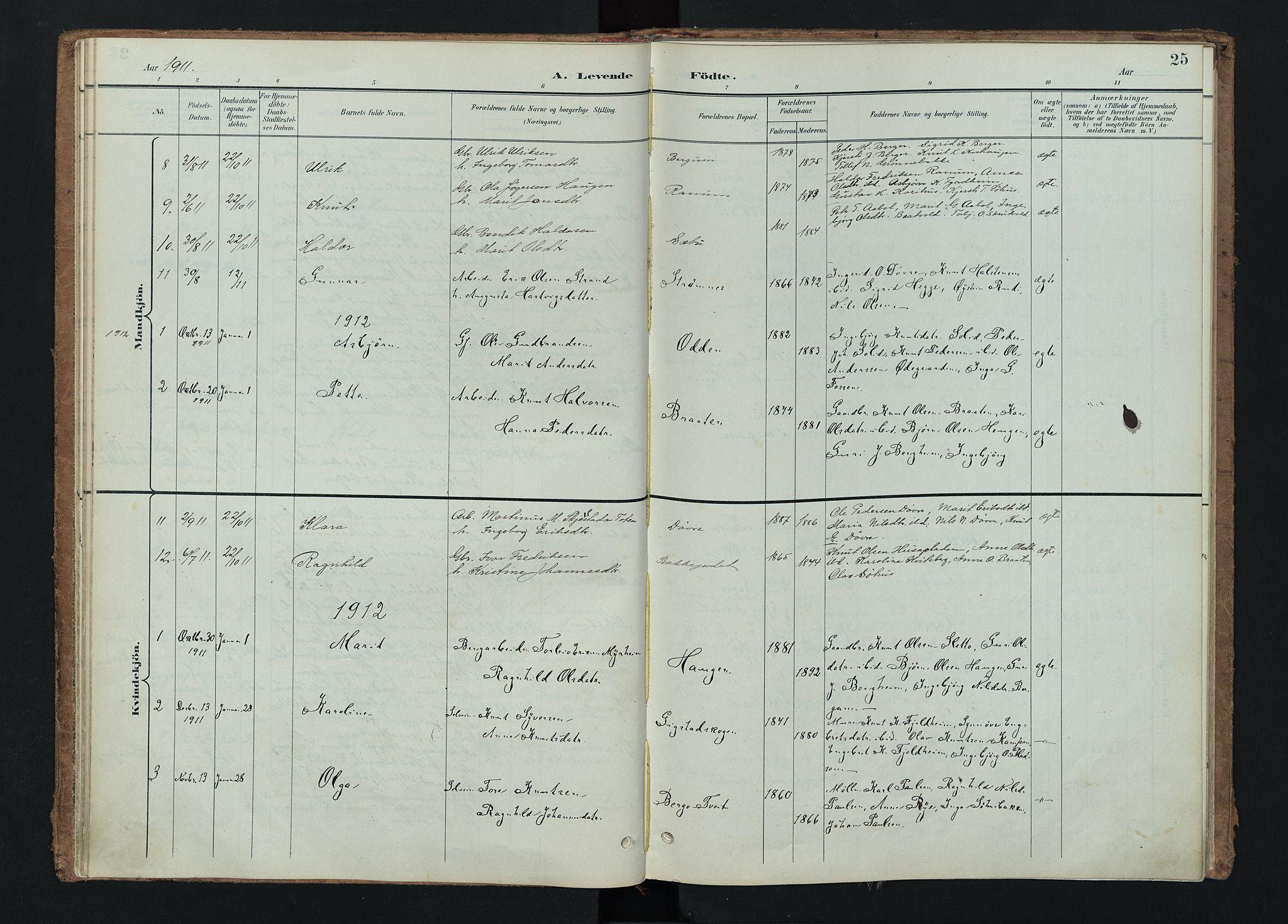 SAH, Nord-Aurdal prestekontor, Ministerialbok nr. 15, 1896-1914, s. 25