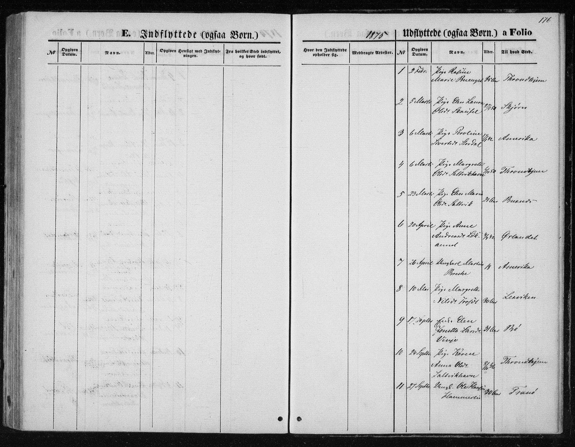 SAT, Ministerialprotokoller, klokkerbøker og fødselsregistre - Nord-Trøndelag, 733/L0324: Ministerialbok nr. 733A03, 1870-1883, s. 176