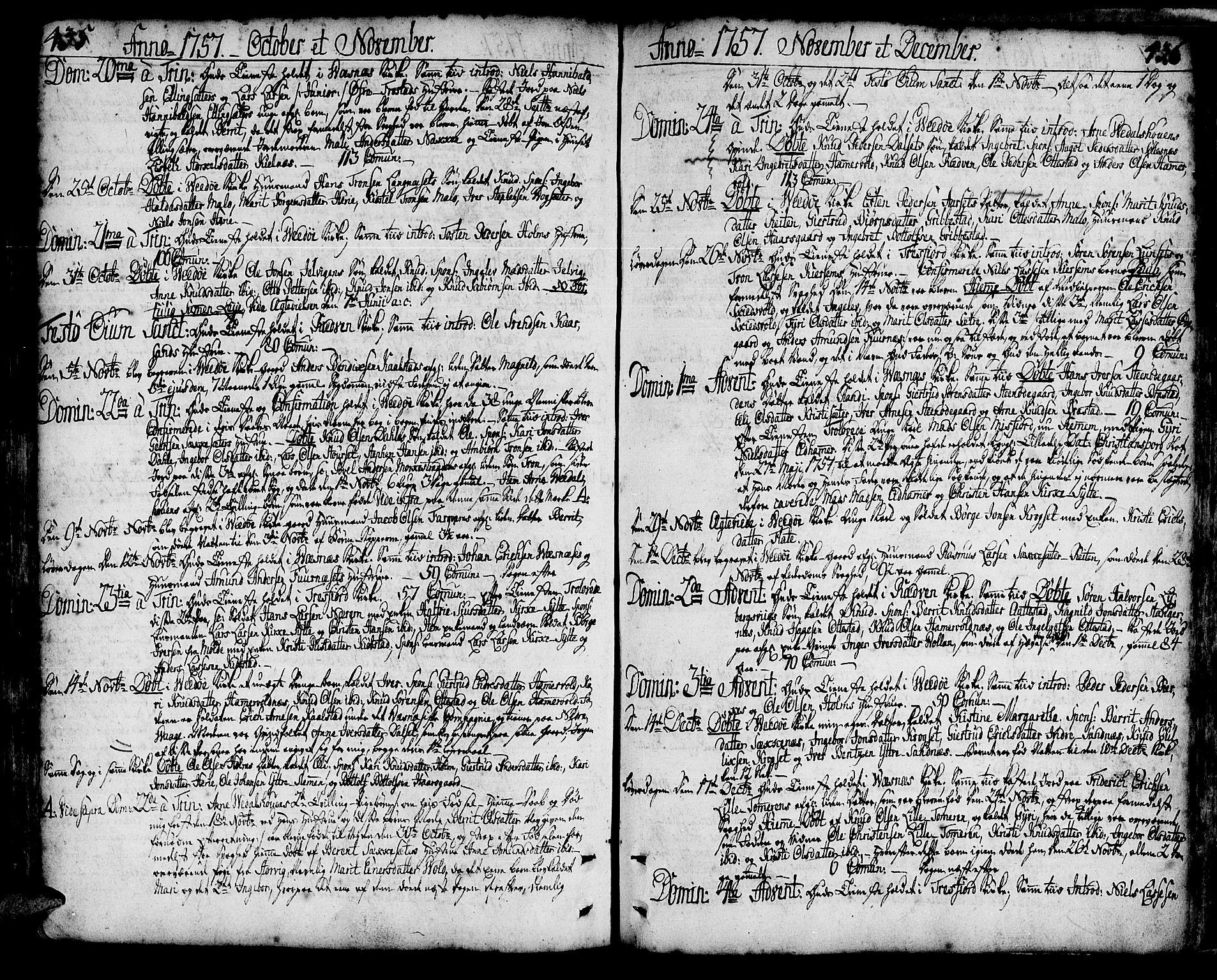 SAT, Ministerialprotokoller, klokkerbøker og fødselsregistre - Møre og Romsdal, 547/L0599: Ministerialbok nr. 547A01, 1721-1764, s. 435-436