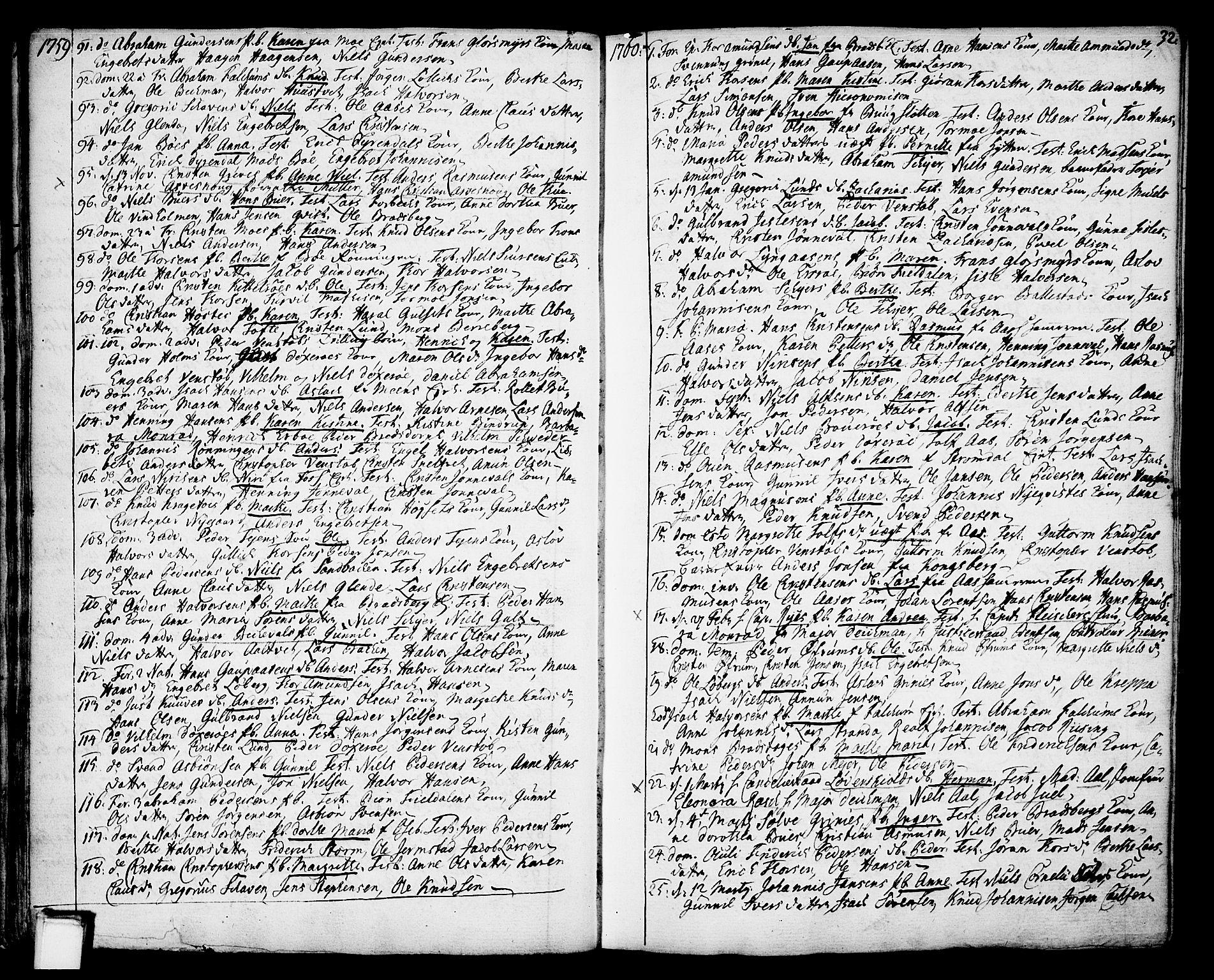 SAKO, Gjerpen kirkebøker, F/Fa/L0002: Ministerialbok nr. 2, 1747-1795, s. 32
