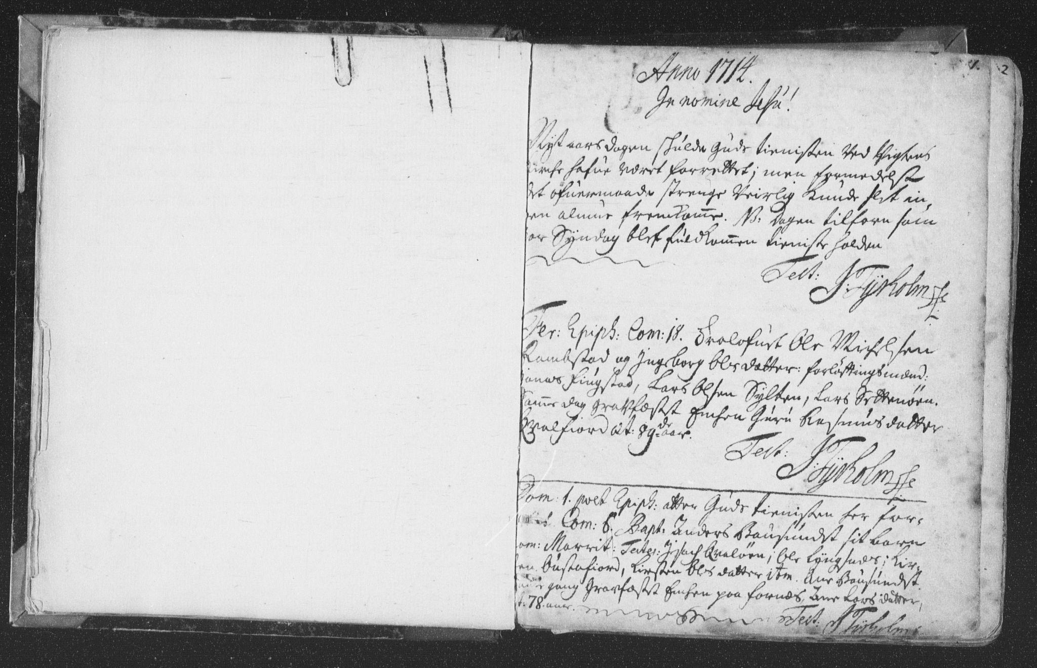 SAT, Ministerialprotokoller, klokkerbøker og fødselsregistre - Nord-Trøndelag, 786/L0685: Ministerialbok nr. 786A01, 1710-1798, s. 1