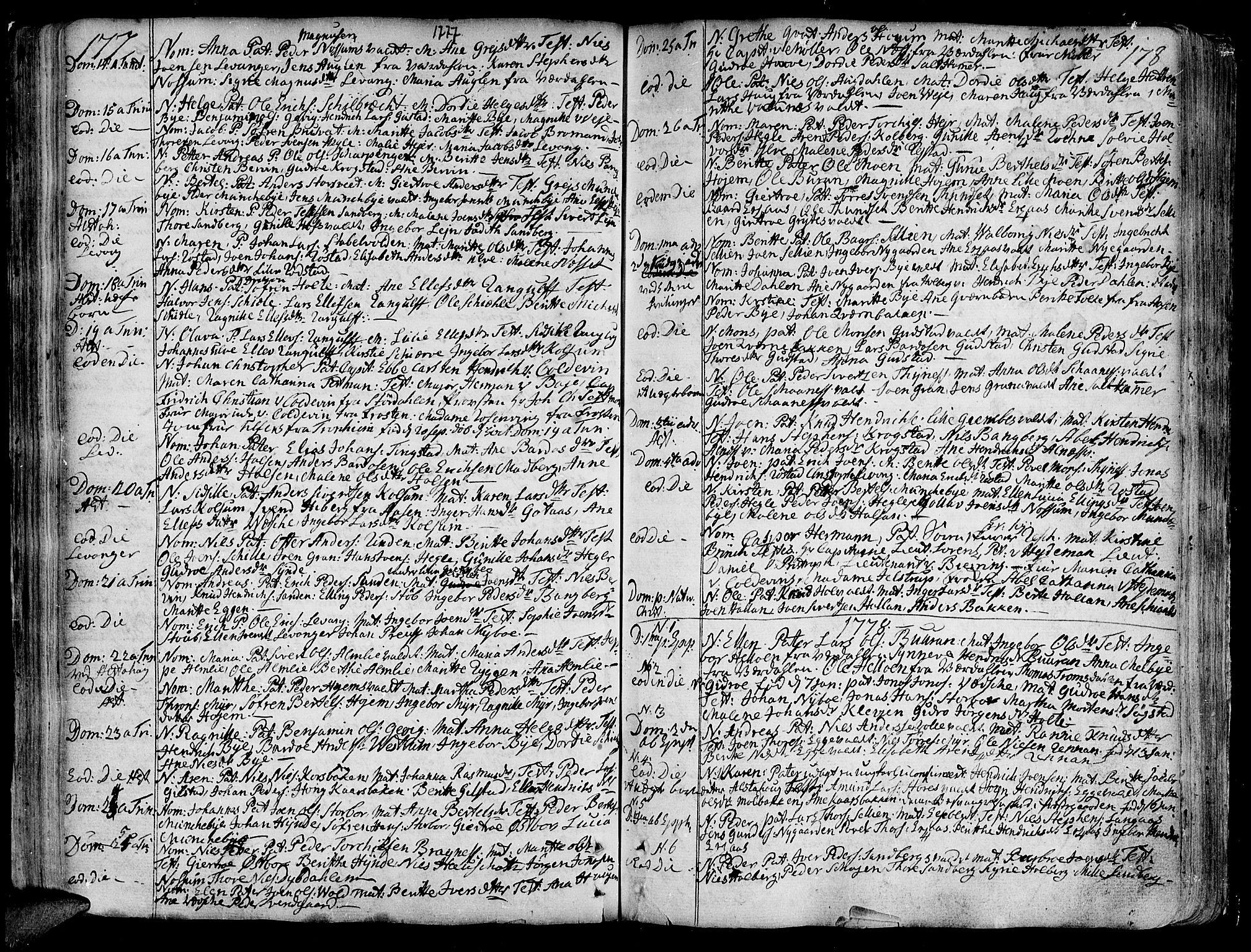 SAT, Ministerialprotokoller, klokkerbøker og fødselsregistre - Nord-Trøndelag, 717/L0141: Ministerialbok nr. 717A01, 1747-1803, s. 177-178