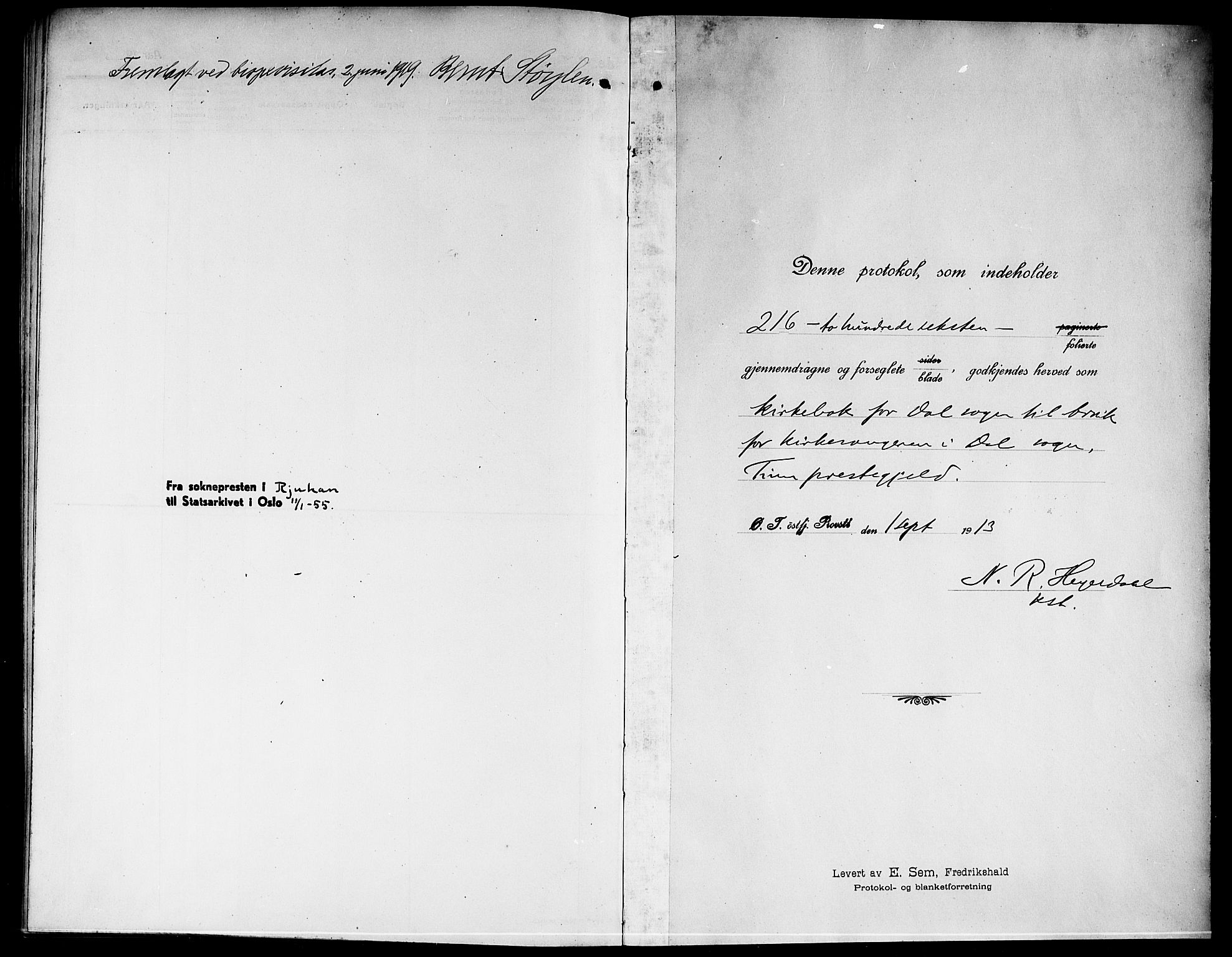 SAKO, Rjukan kirkebøker, G/Ga/L0002: Klokkerbok nr. 2, 1913-1920