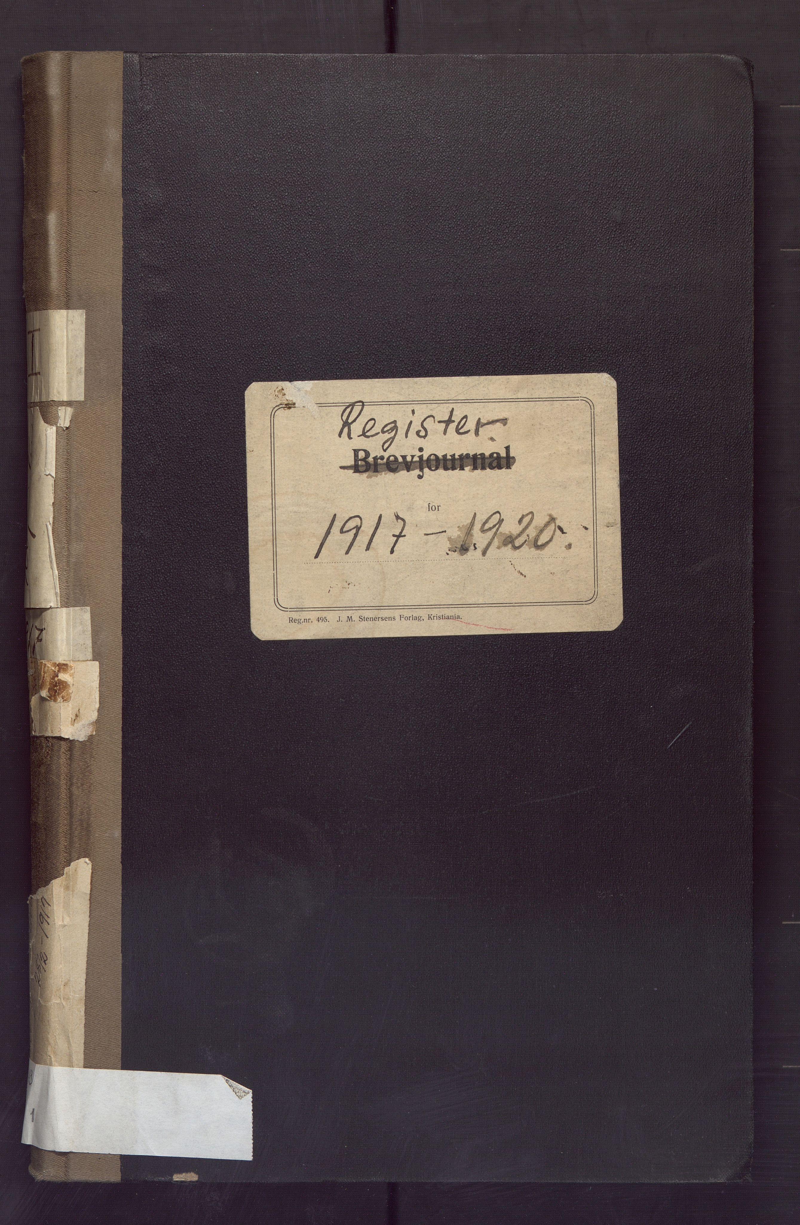 BBA, Laksevåg kommune. Formannskapet, Aa/L0001: Register, 1917-1920