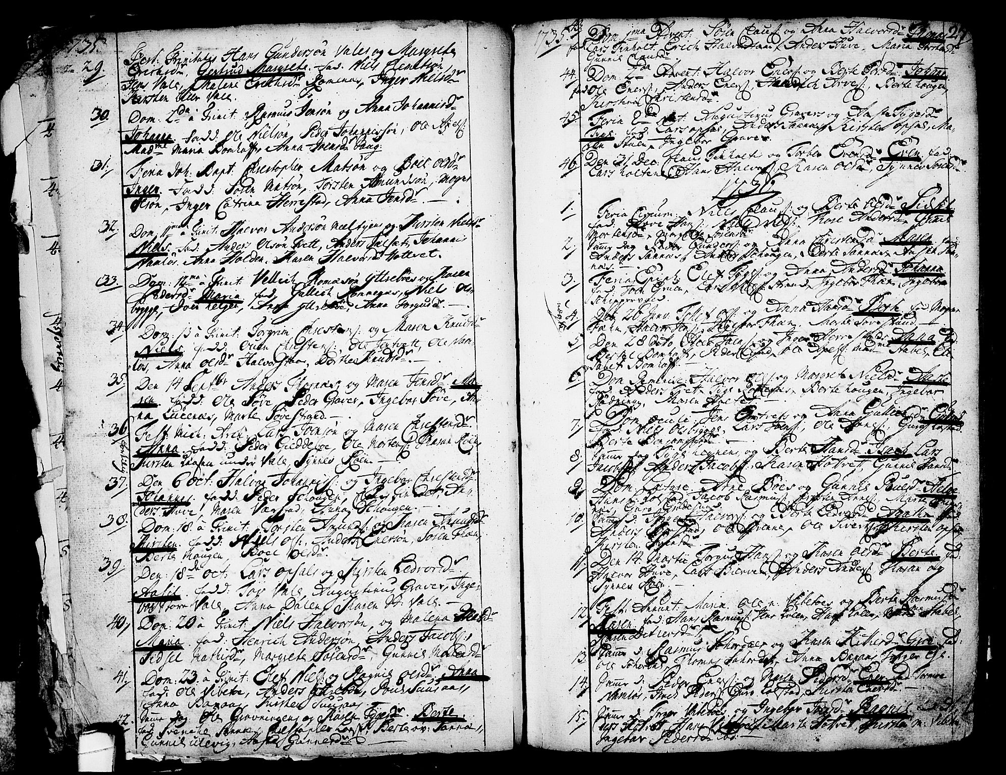 SAKO, Holla kirkebøker, F/Fa/L0001: Ministerialbok nr. 1, 1717-1779, s. 27