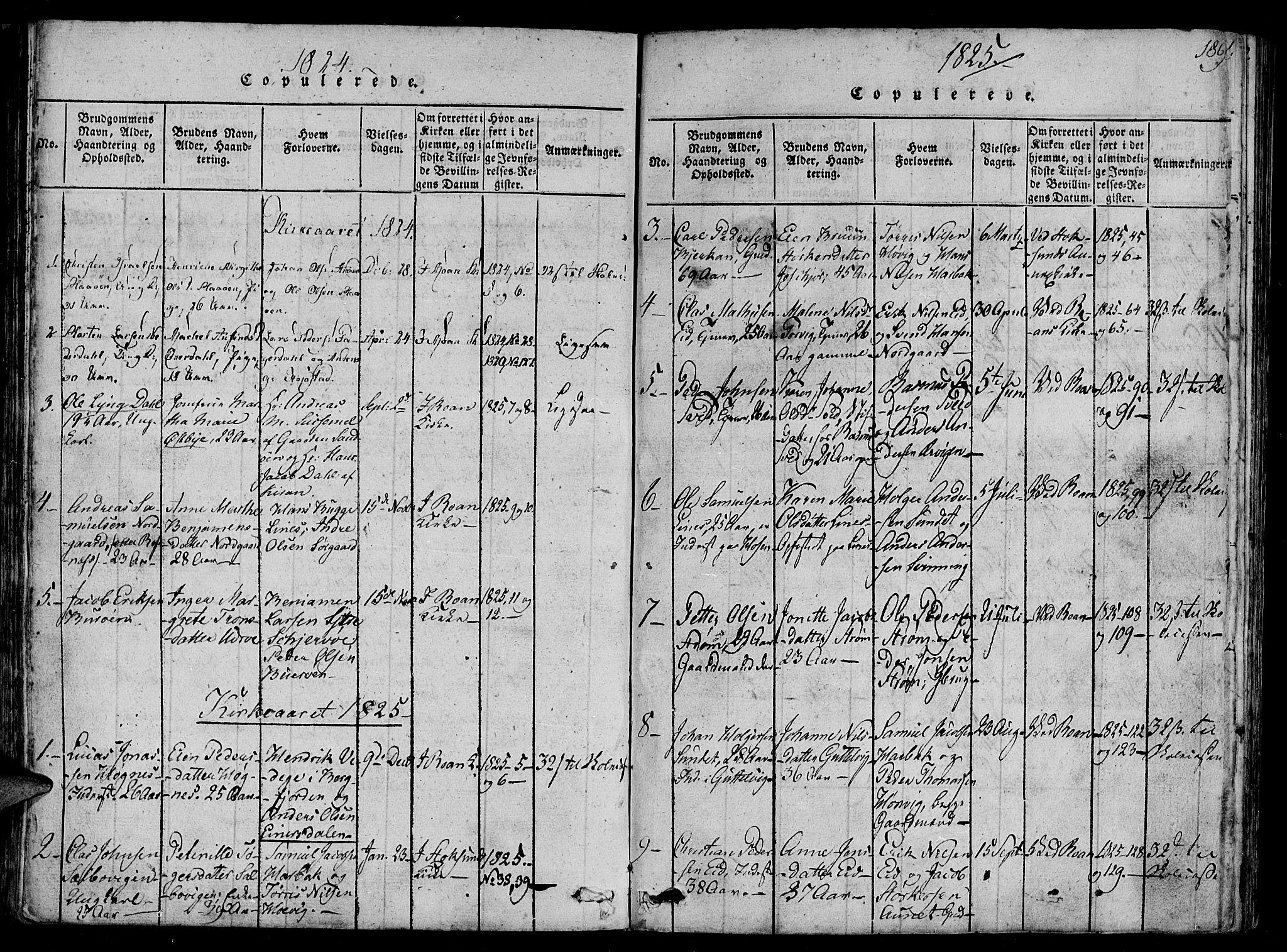SAT, Ministerialprotokoller, klokkerbøker og fødselsregistre - Sør-Trøndelag, 657/L0702: Ministerialbok nr. 657A03, 1818-1831, s. 189
