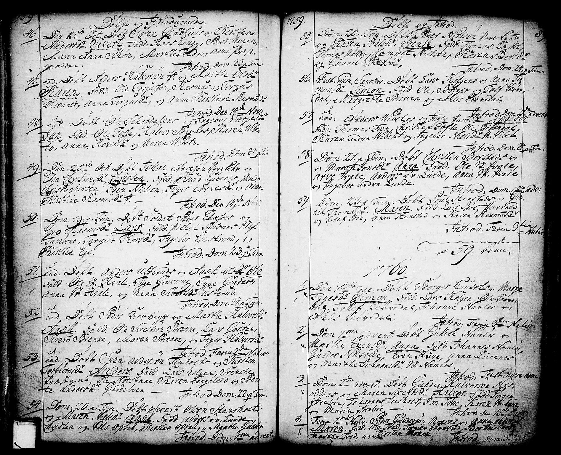 SAKO, Holla kirkebøker, F/Fa/L0001: Ministerialbok nr. 1, 1717-1779, s. 80