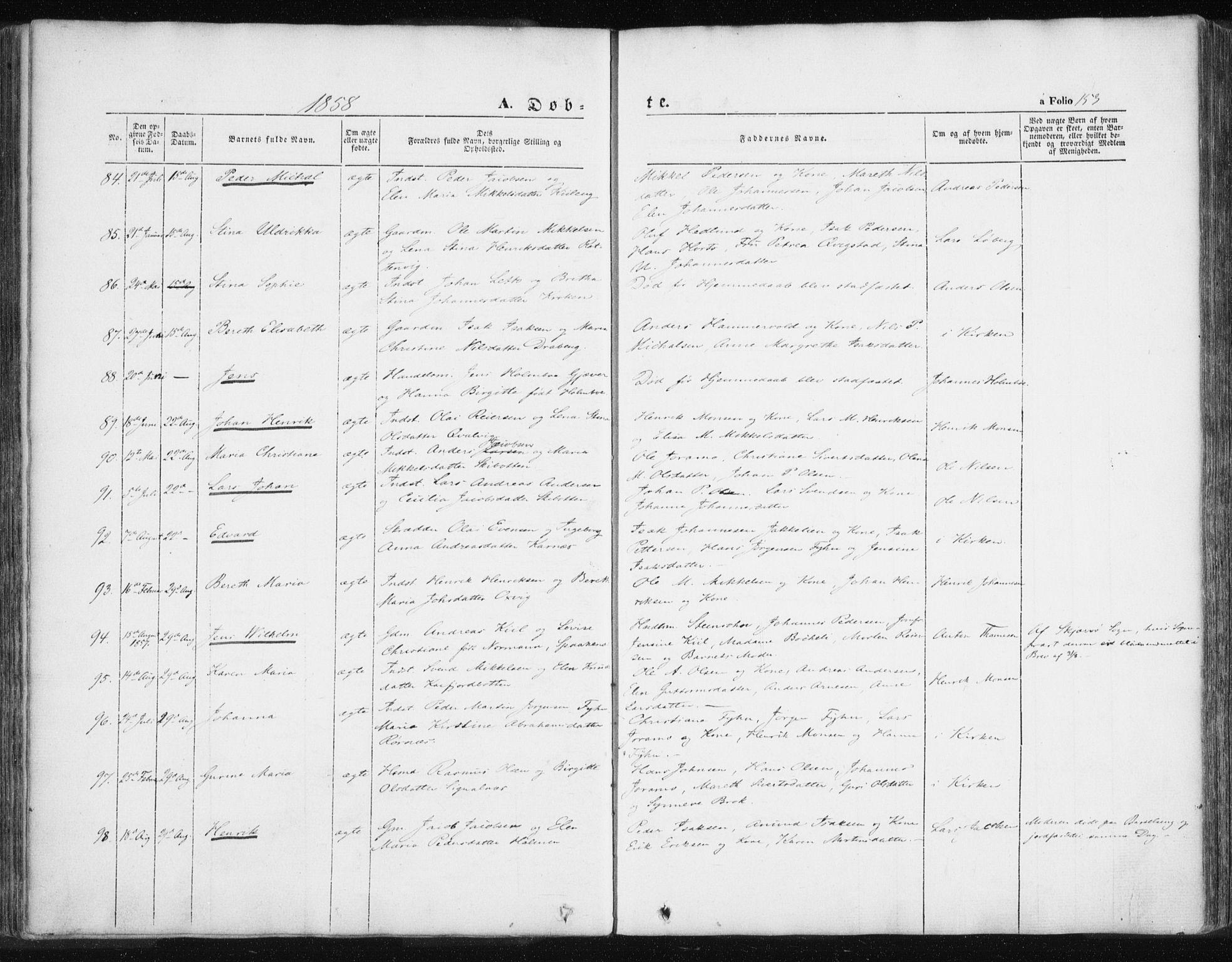 SATØ, Lyngen sokneprestembete, Ministerialbok nr. 4, 1839-1858, s. 153