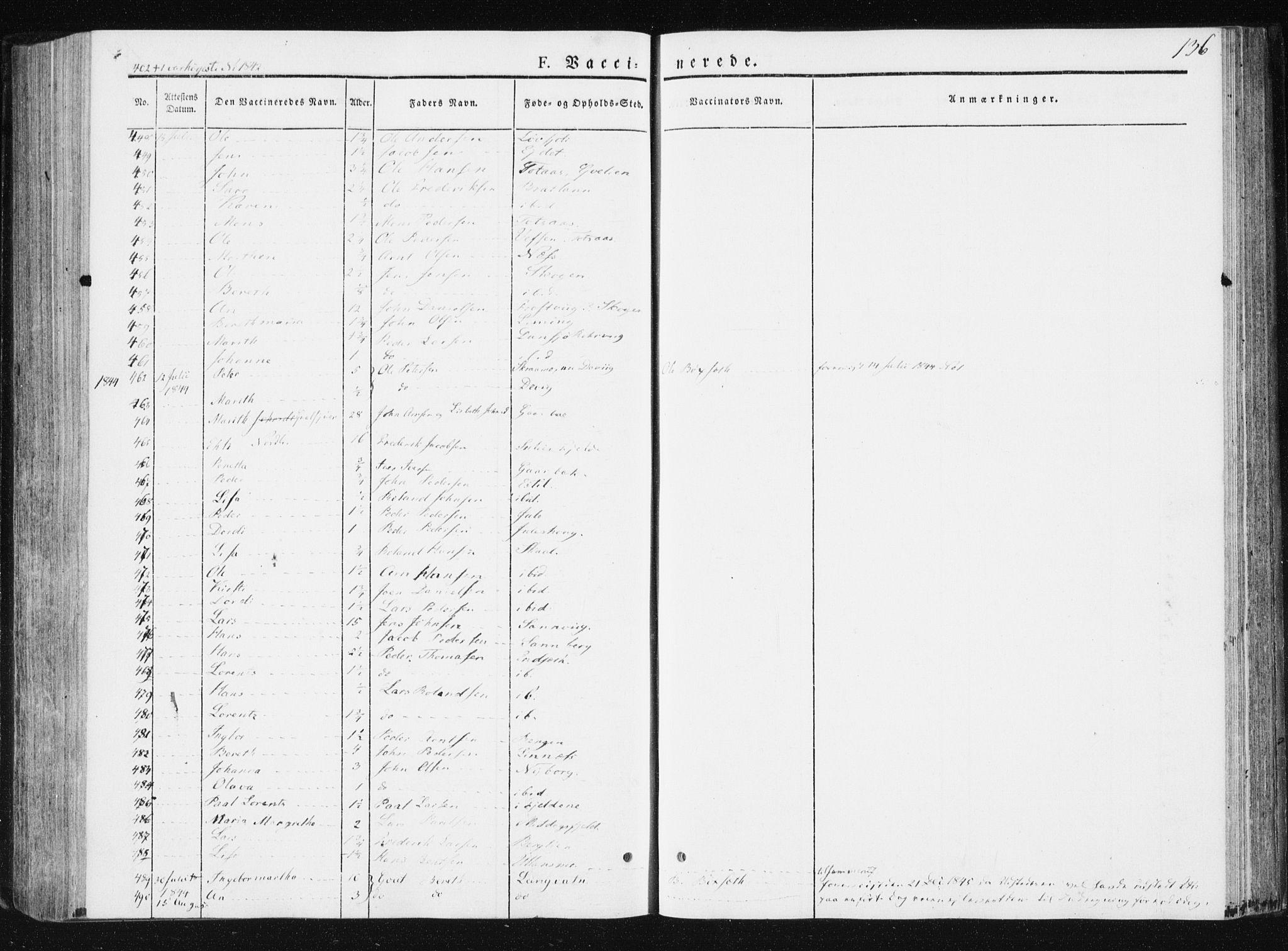 SAT, Ministerialprotokoller, klokkerbøker og fødselsregistre - Nord-Trøndelag, 749/L0470: Ministerialbok nr. 749A04, 1834-1853, s. 136