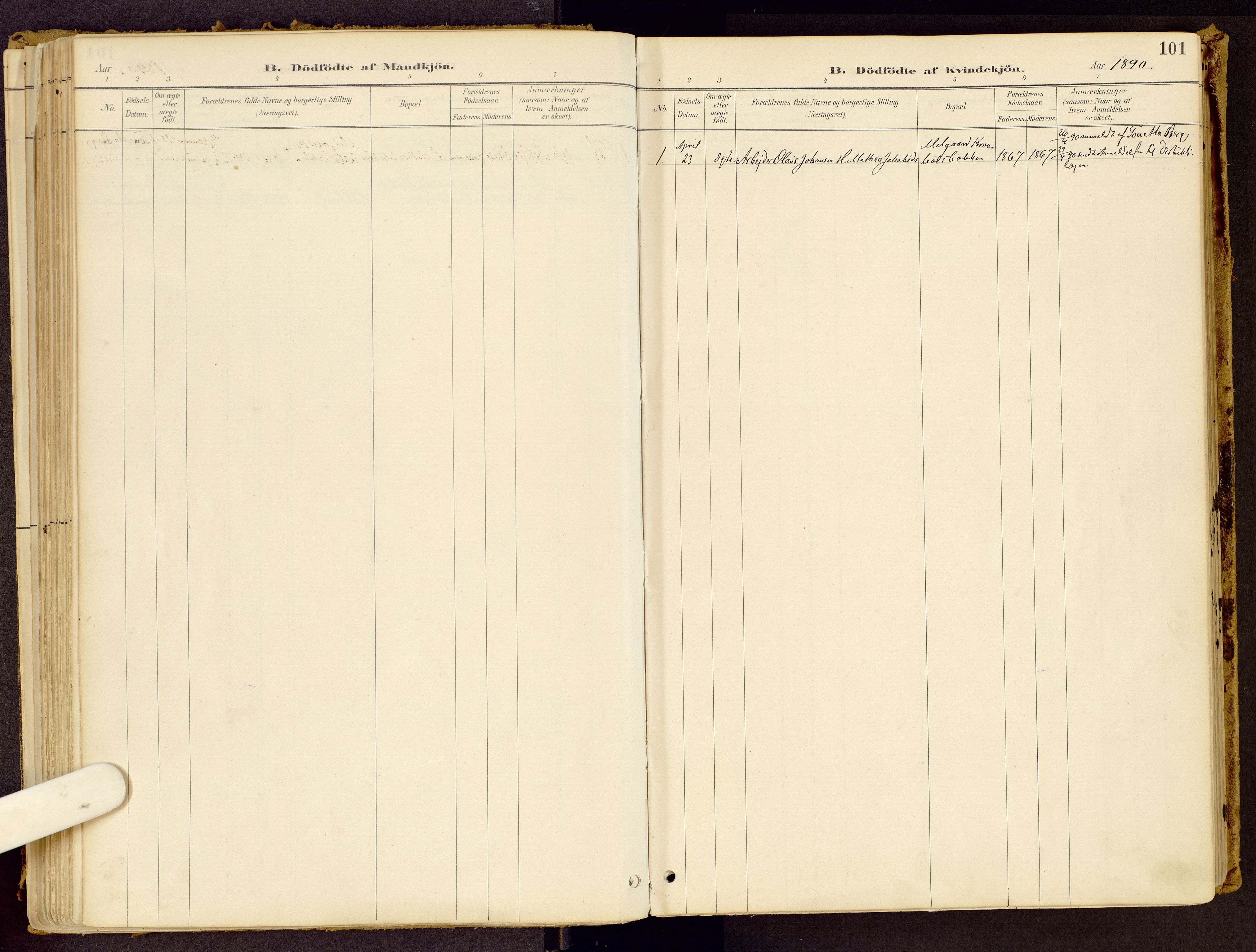 SAH, Vestre Gausdal prestekontor, Ministerialbok nr. 1, 1887-1914, s. 101