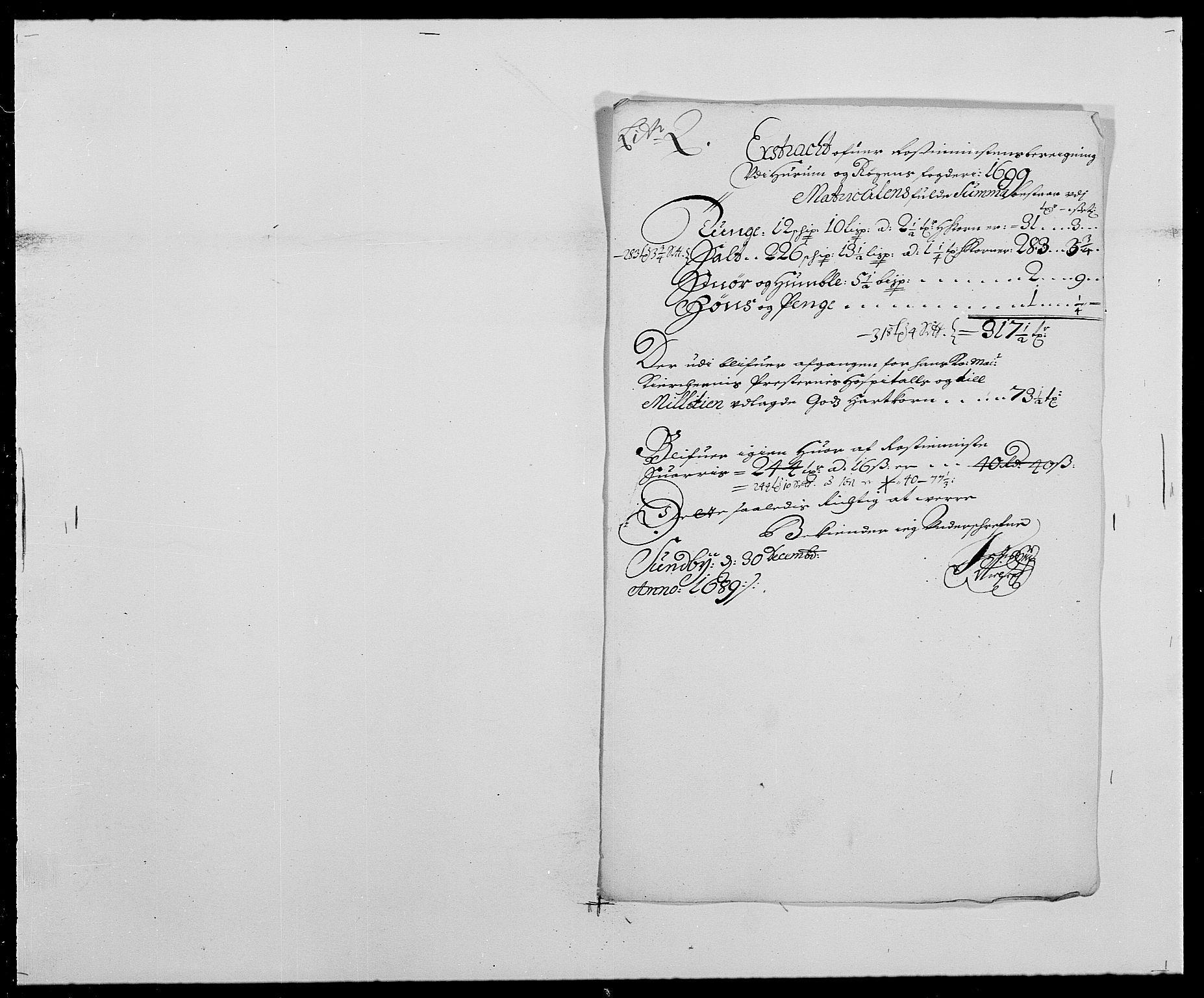 RA, Rentekammeret inntil 1814, Reviderte regnskaper, Fogderegnskap, R29/L1693: Fogderegnskap Hurum og Røyken, 1688-1693, s. 139