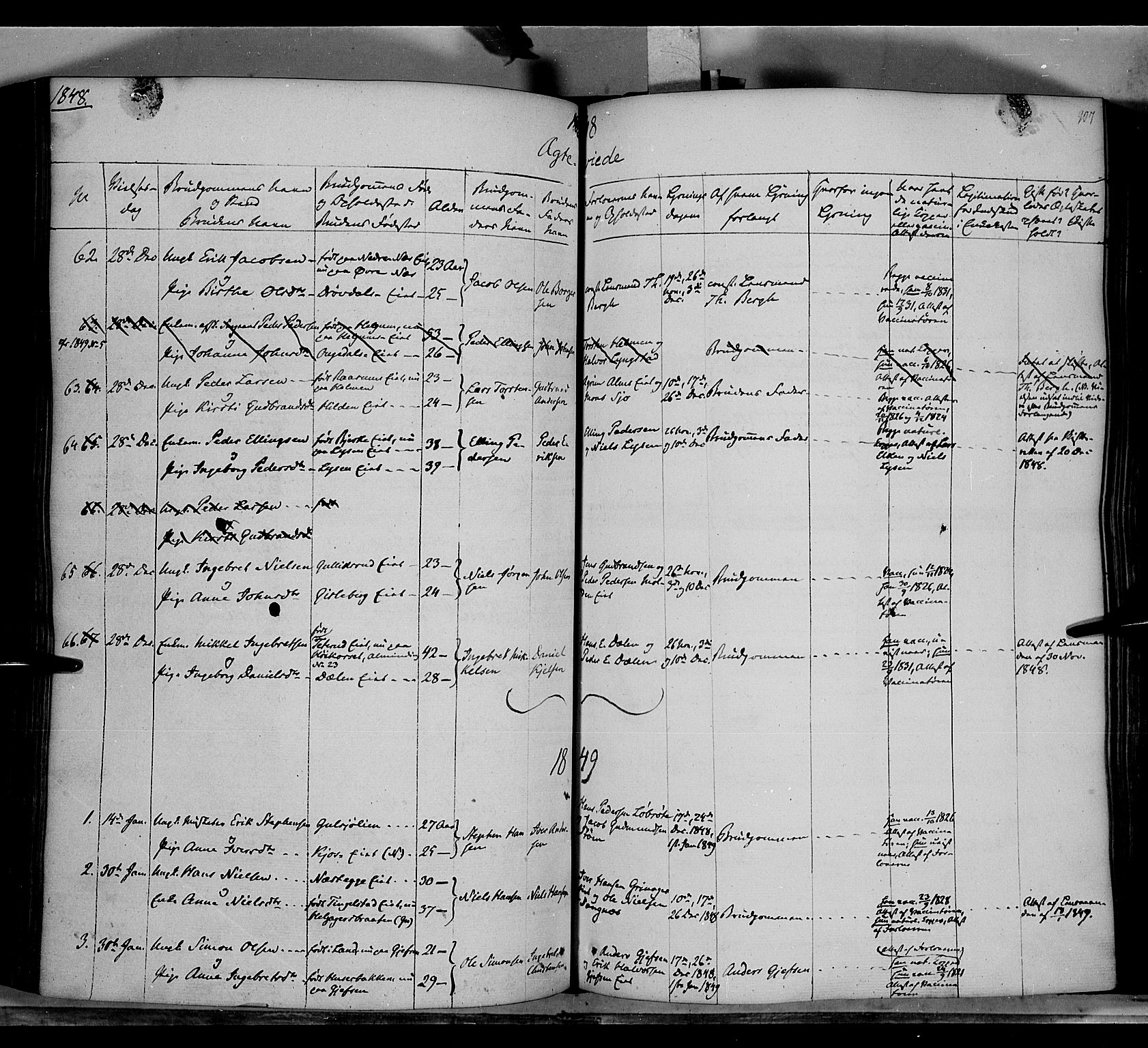 SAH, Gran prestekontor, Ministerialbok nr. 11, 1842-1856, s. 908-909