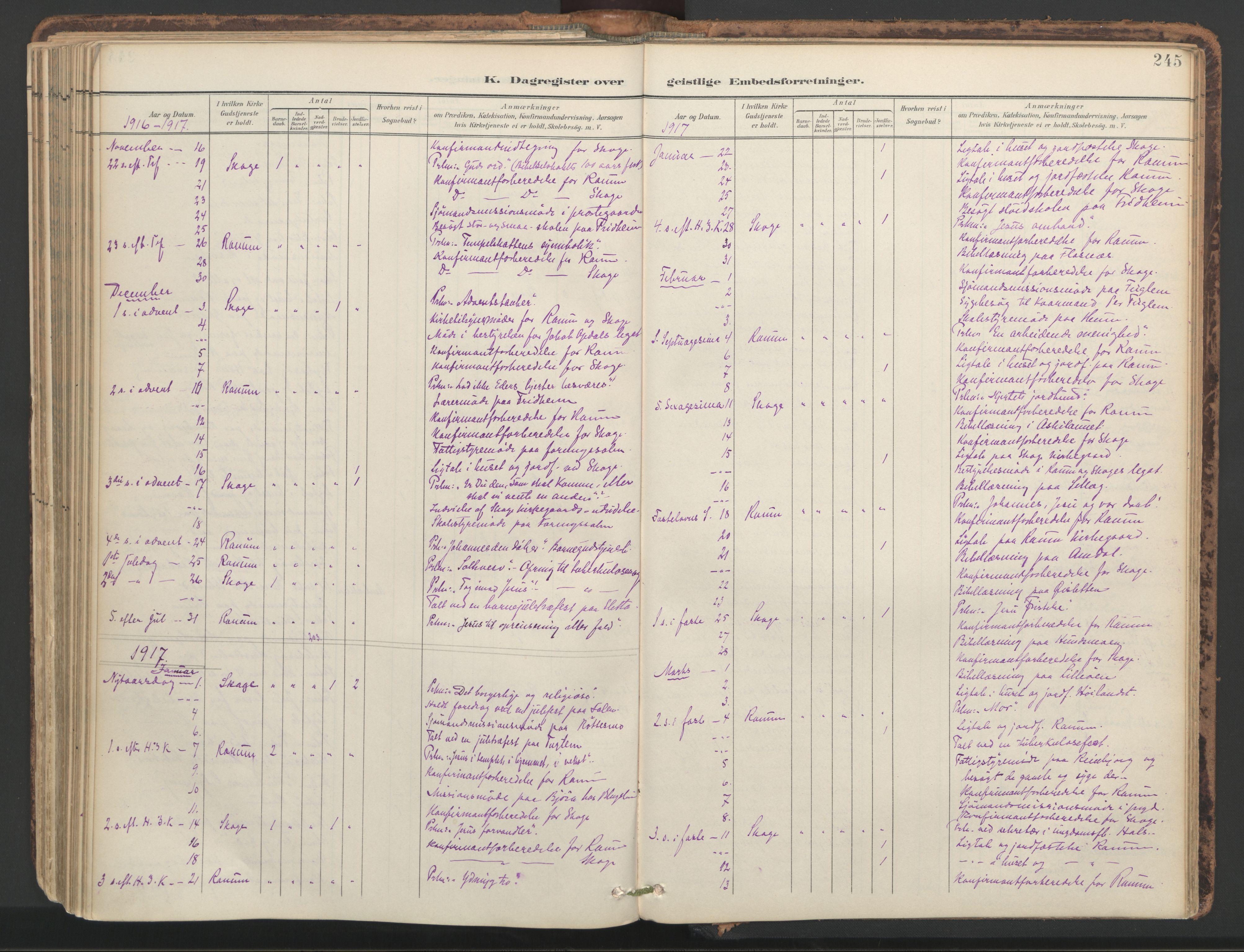SAT, Ministerialprotokoller, klokkerbøker og fødselsregistre - Nord-Trøndelag, 764/L0556: Ministerialbok nr. 764A11, 1897-1924, s. 245